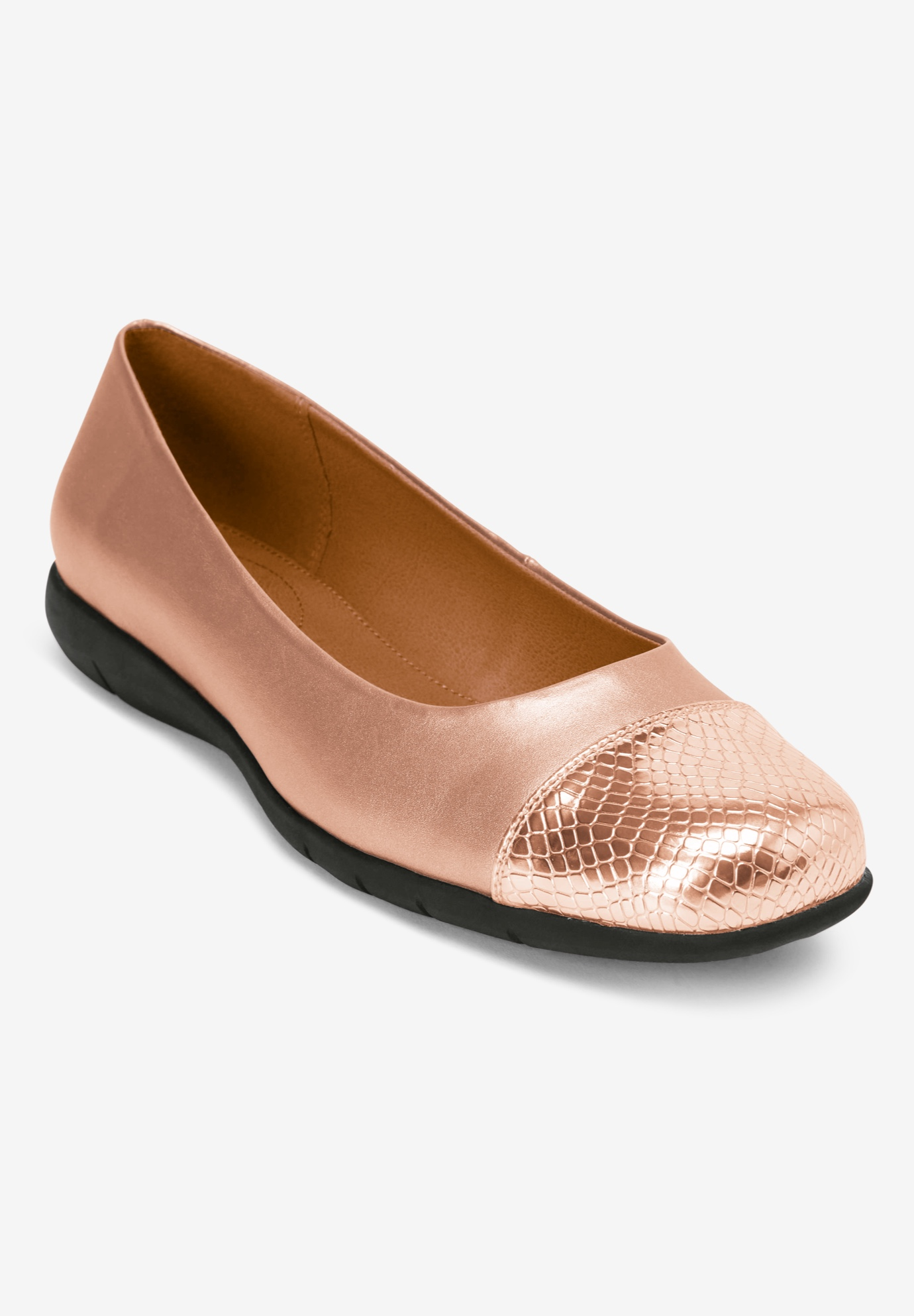 The Fay Flat by Comfortview®, ROSE GOLD, hi-res