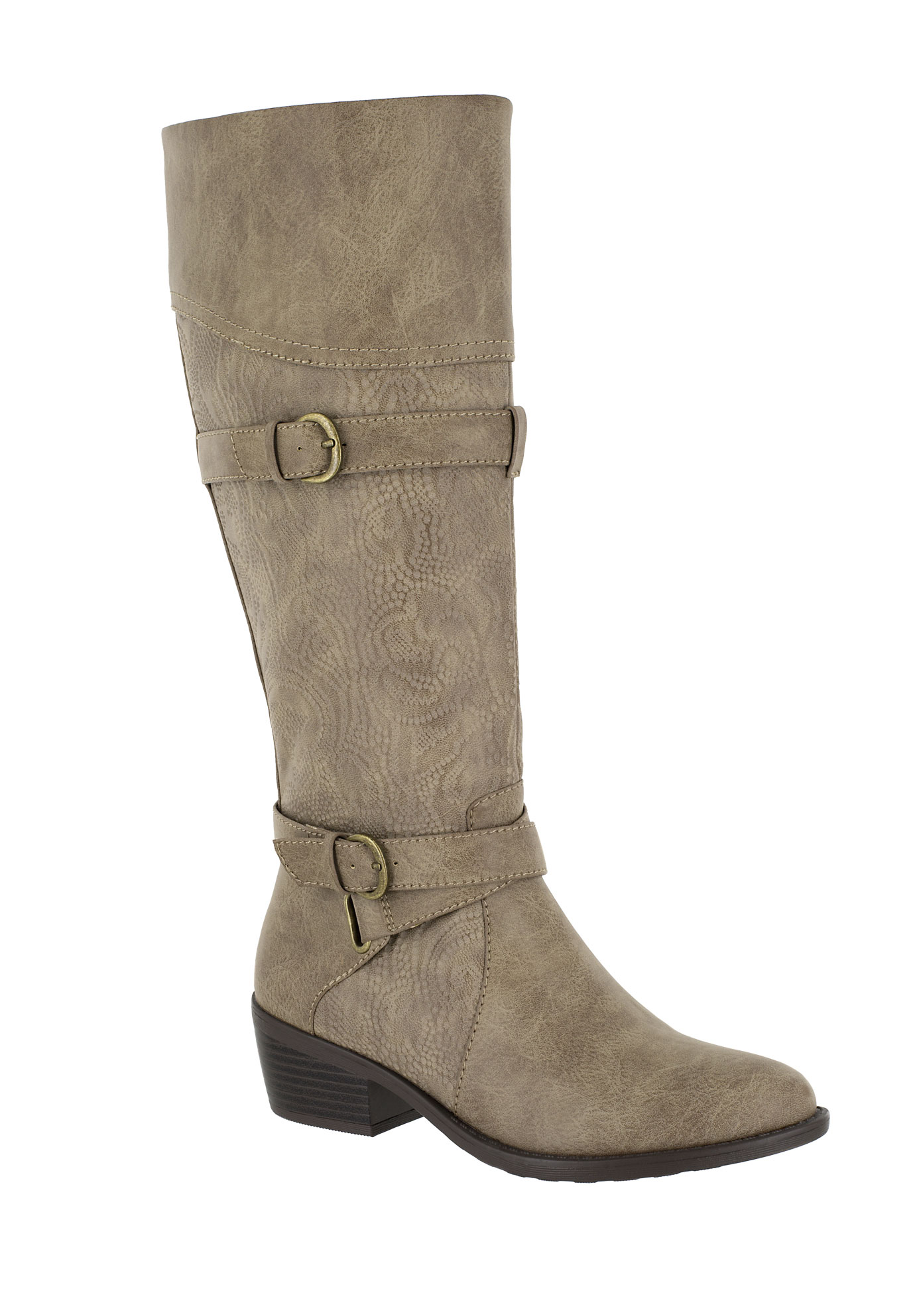 Kelsa Wide Calf Boots by Easy Street®, TAUPE E, hi-res
