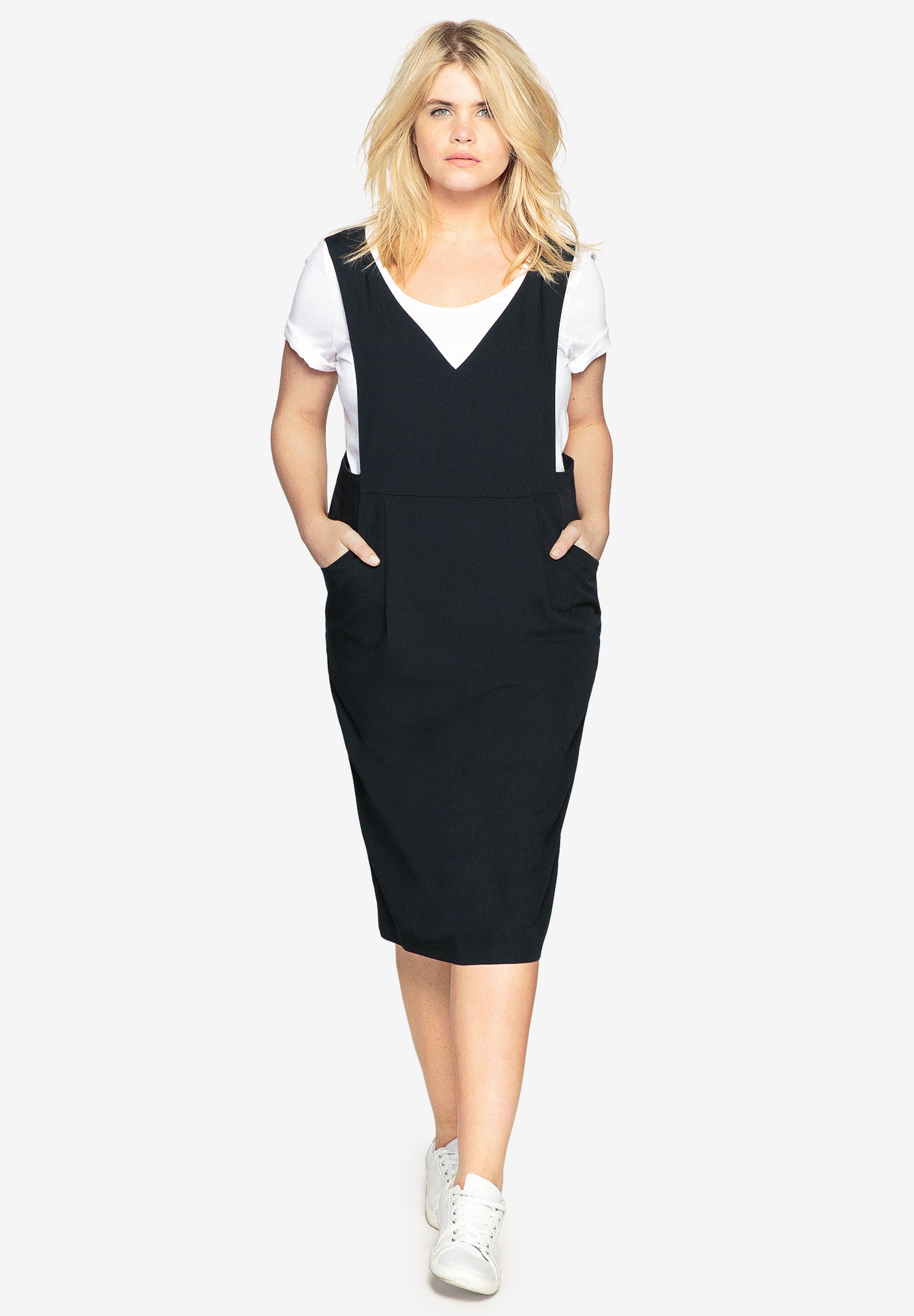 Jumper Dress by Castaluna| Plus Size Casual Dresses | Roaman\'s