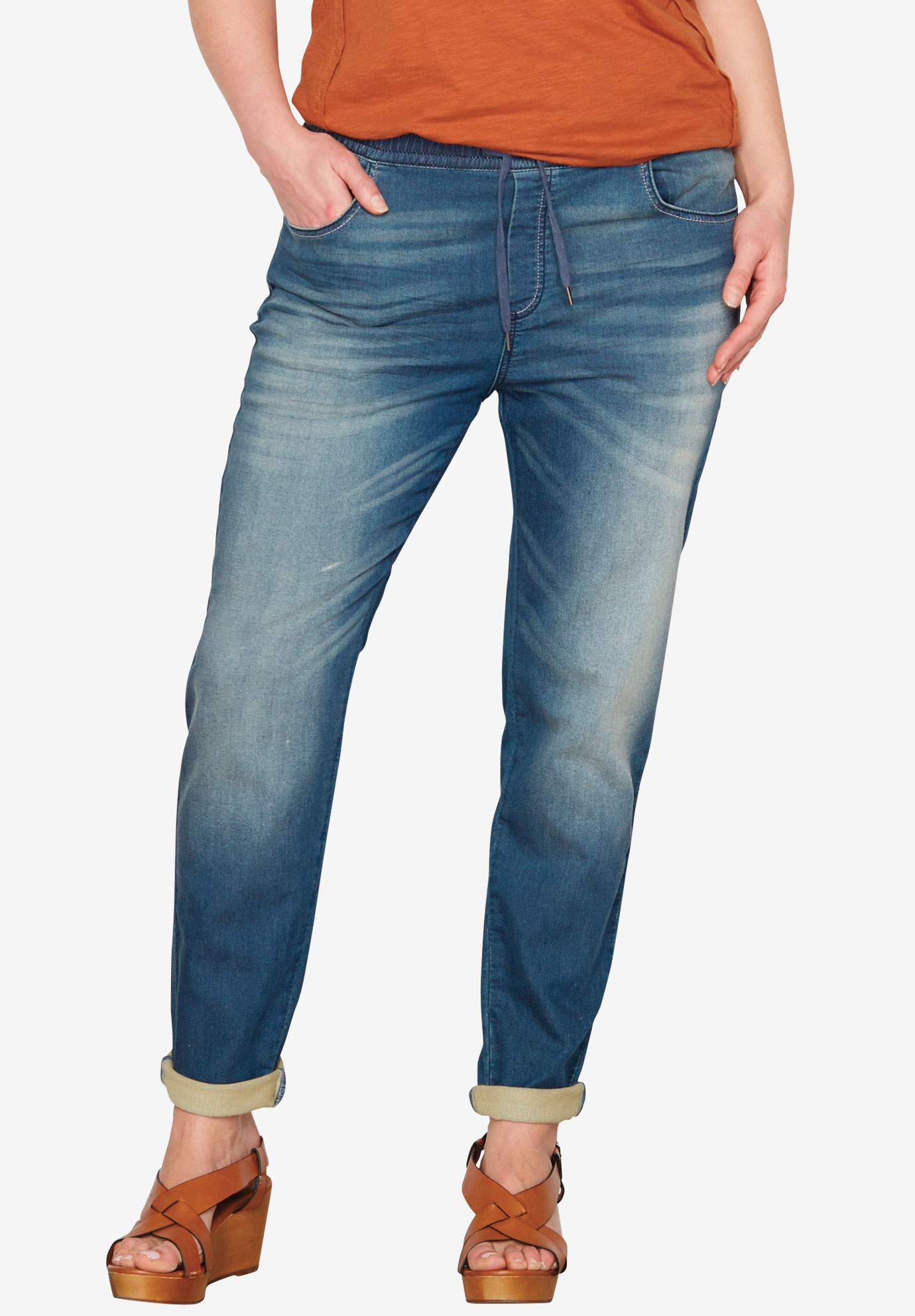Pull-On Boyfriend Jean by Castaluna,