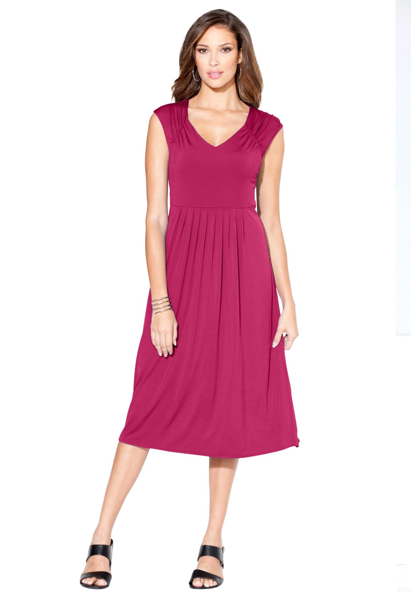 Fit And Flare Dress Plus Size Dresses Roamans