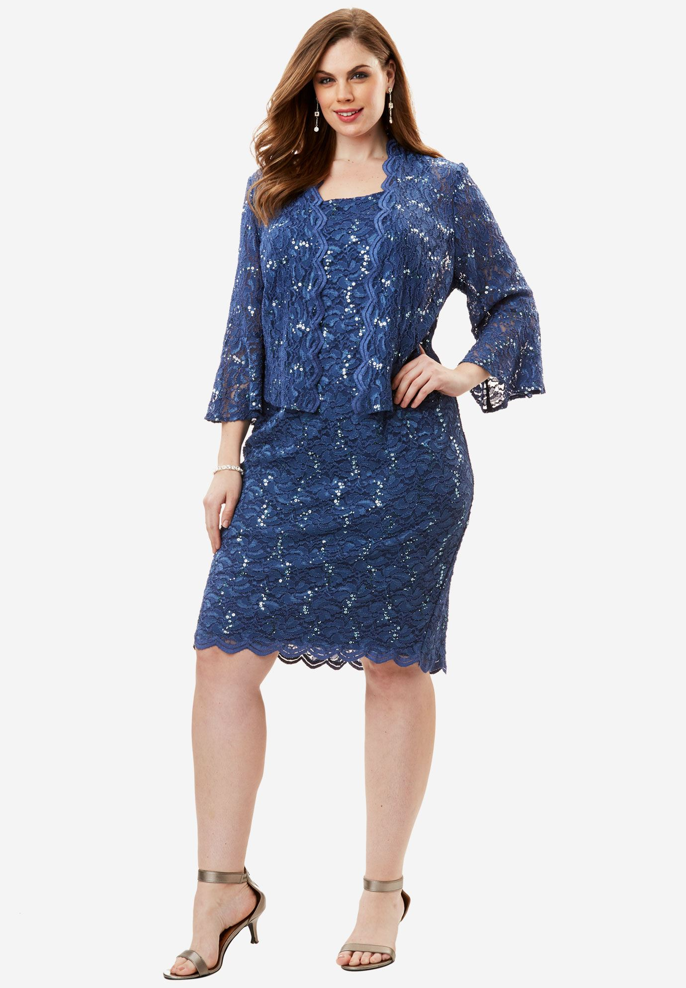 Lace Jacket Dress by Alex Evenings,