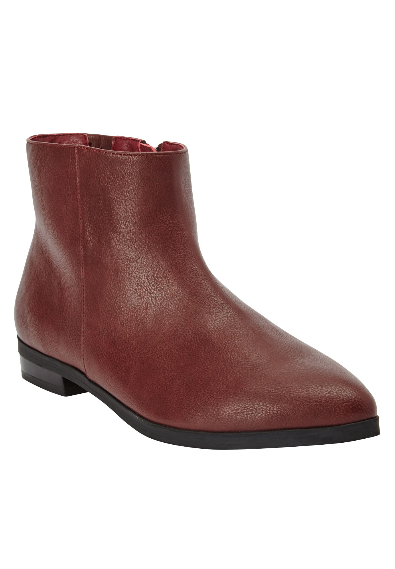 Knox Booties by Comfortview, BURGUNDY, hi-res
