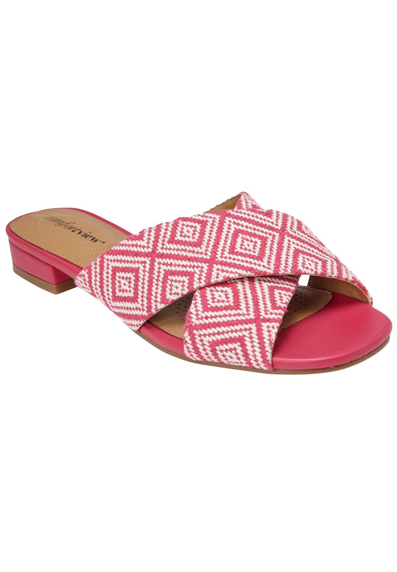 Zuri Sandals by Comfortview®, FUCHSIA NATURAL, hi-res