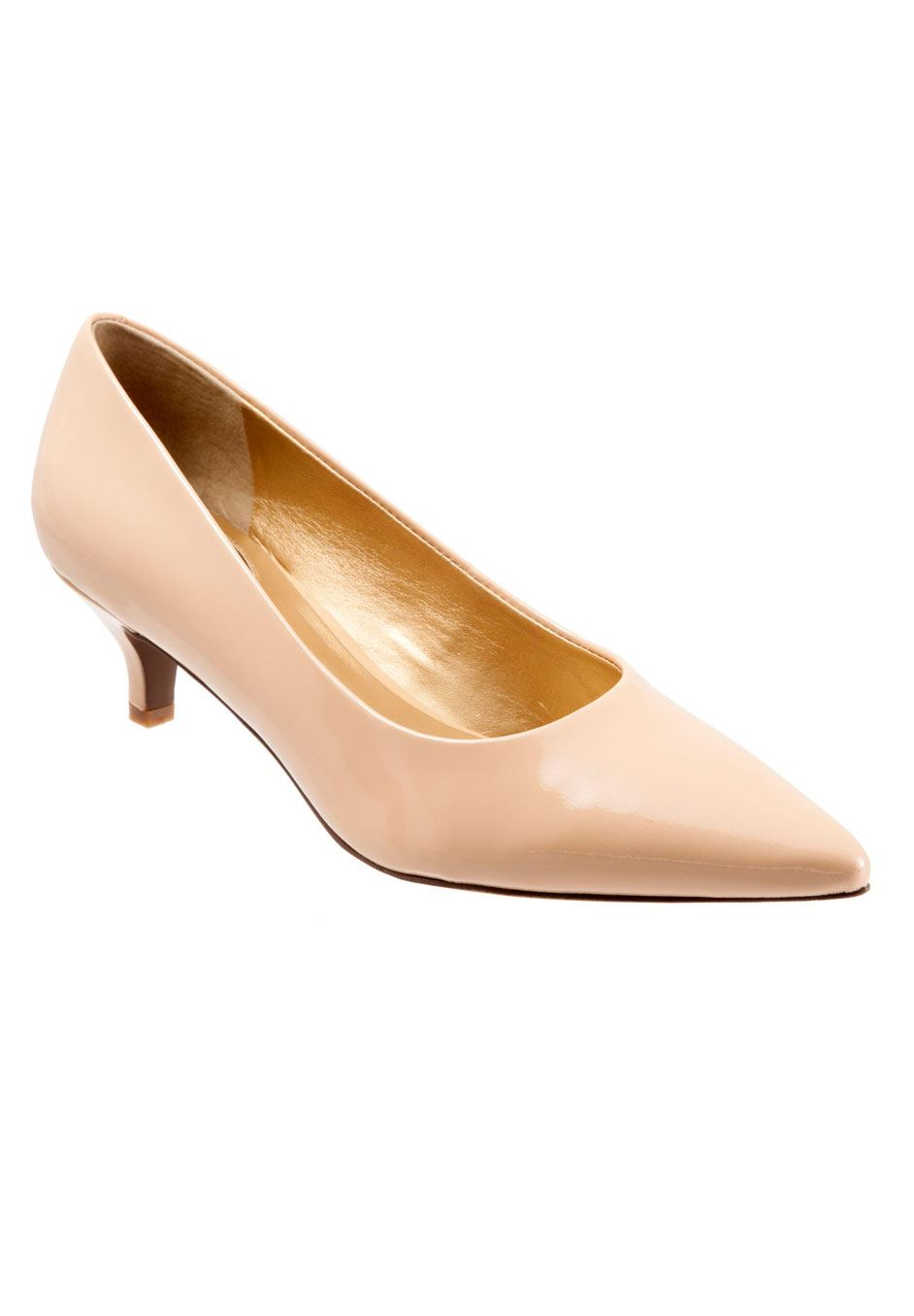 Paulina Leather Pump by Trotters®, NUDE, hi-res
