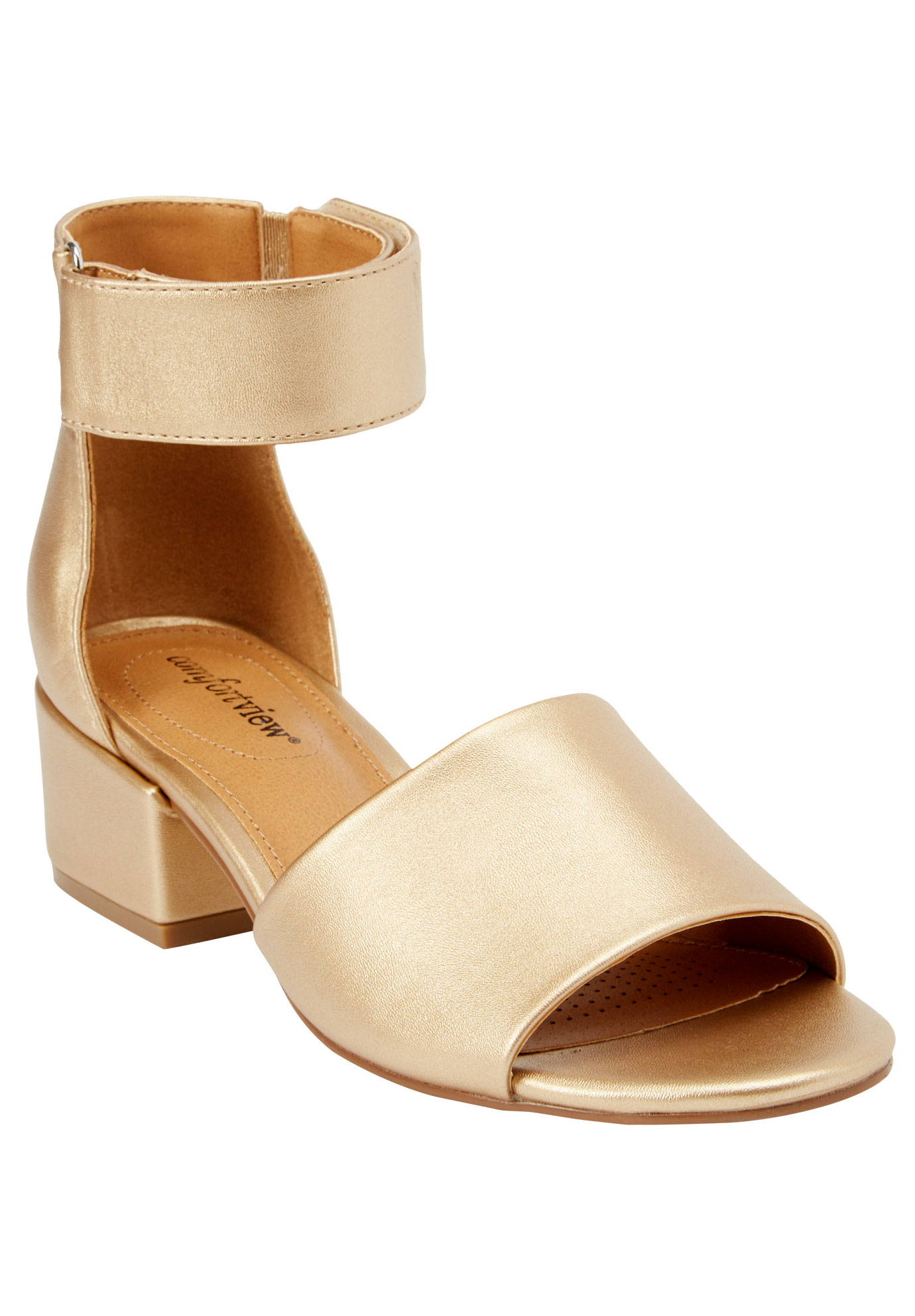 Blix Sandals by Comfortview®, GOLD, hi-res