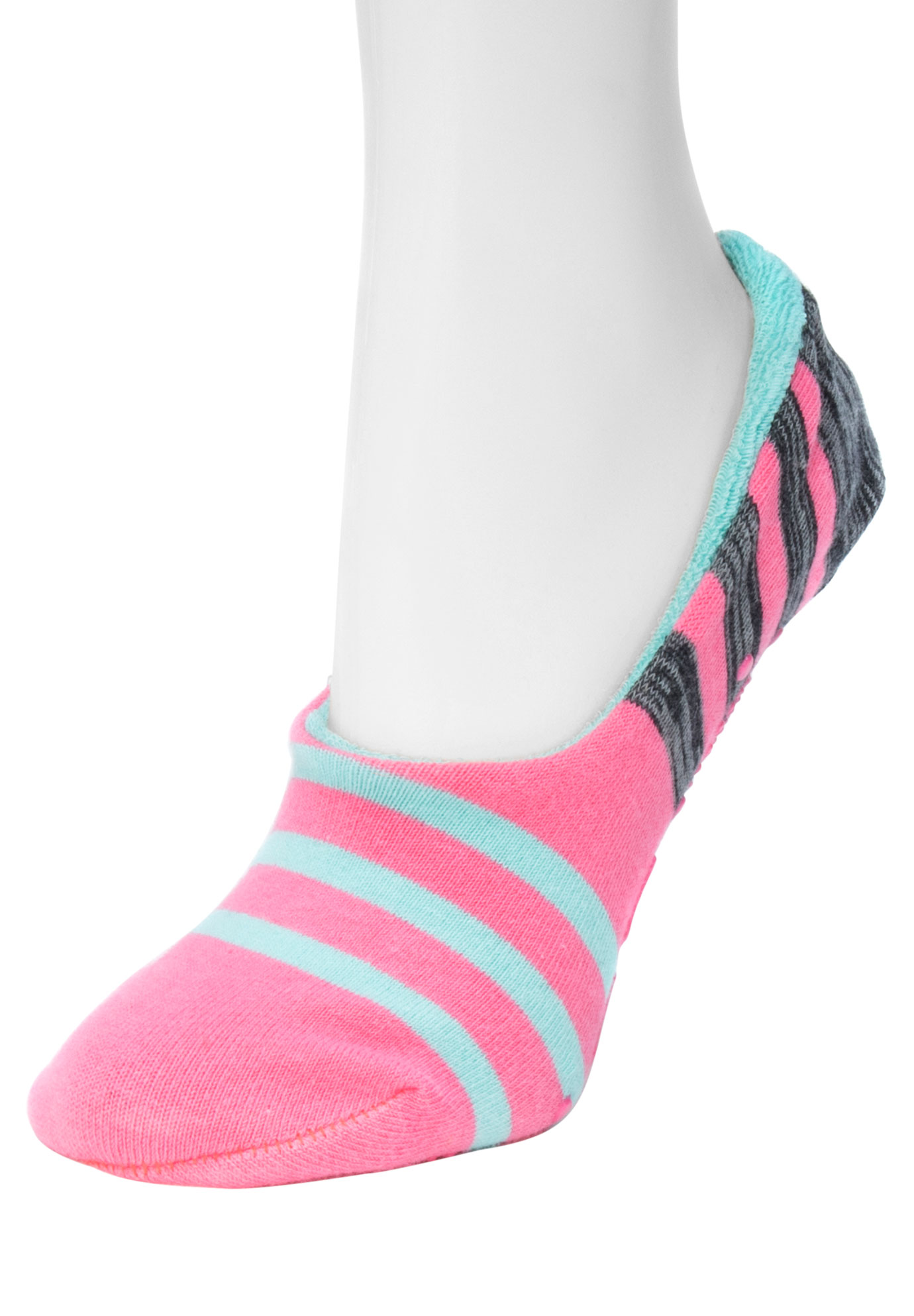 Ballerina Slipper Socks by Muk Luks®, SALMON, hi-res