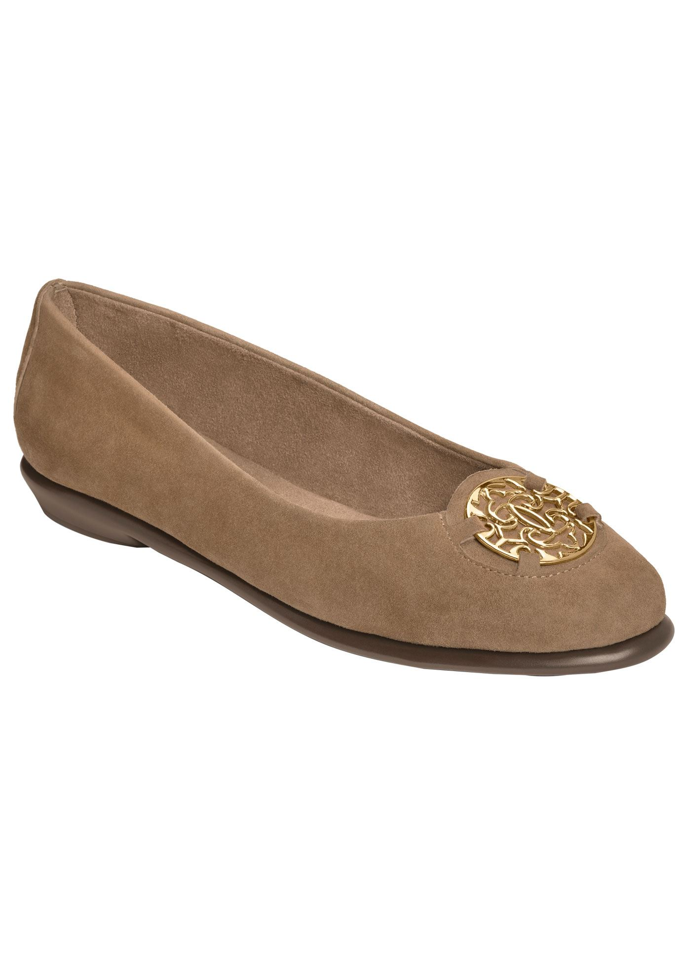 Exhibit Ballet Flats by Aerosoles®, TAUPE SUEDE, hi-res