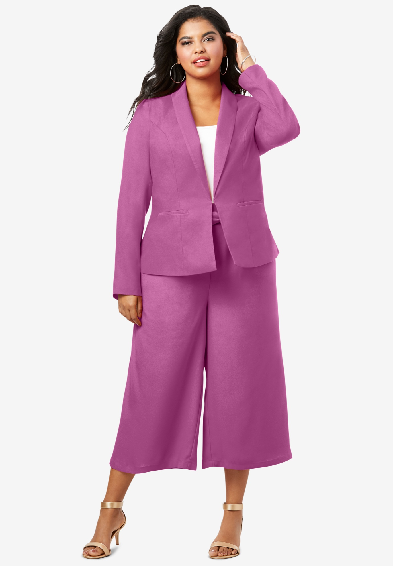 Two-Piece Blazer & Culotte Set,