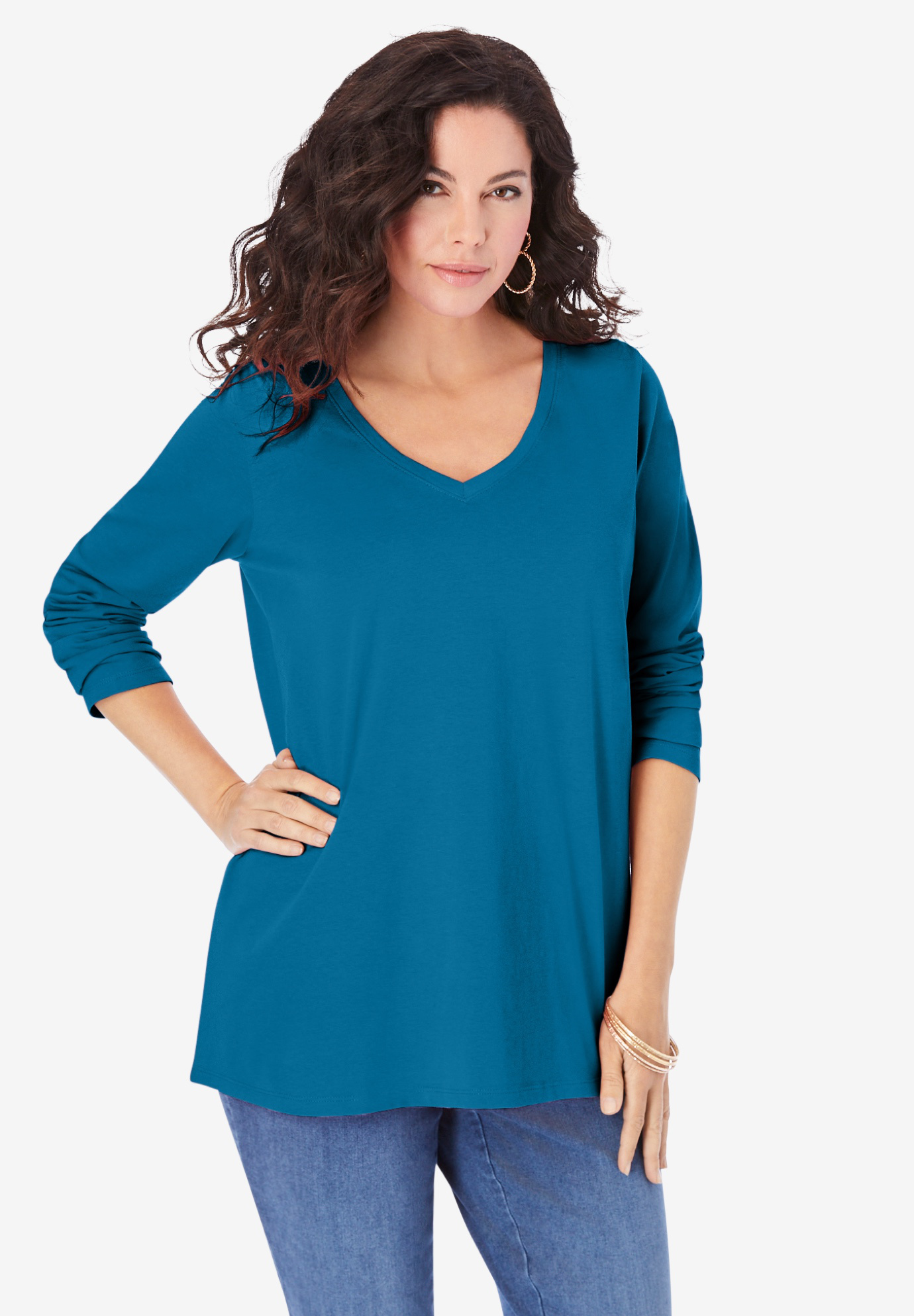 Long-Sleeve V-Neck Ultimate Tee,