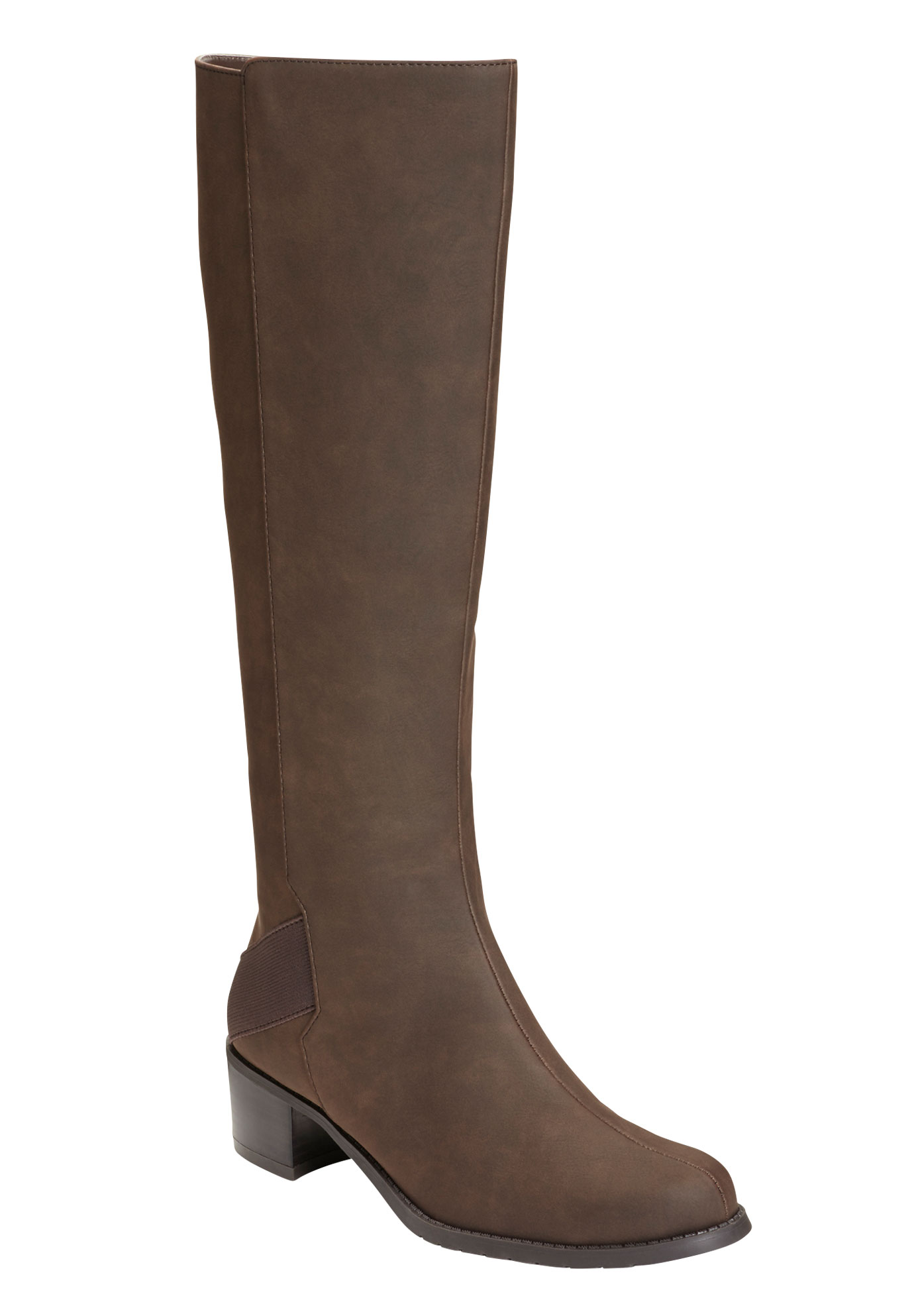 Craftwork Wide Calf Boots by A2 by Aerosoles®, BROWN, hi-res
