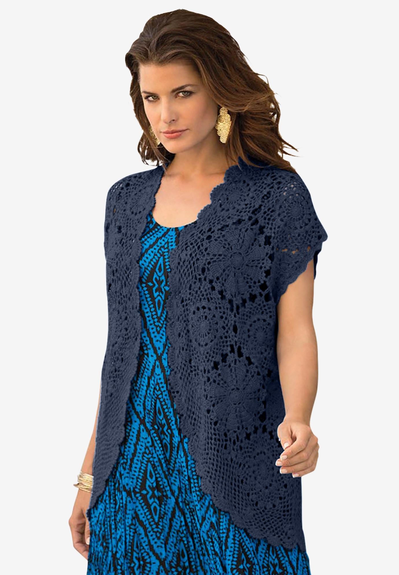 67c8df21a Medallion Crochet Cardigan
