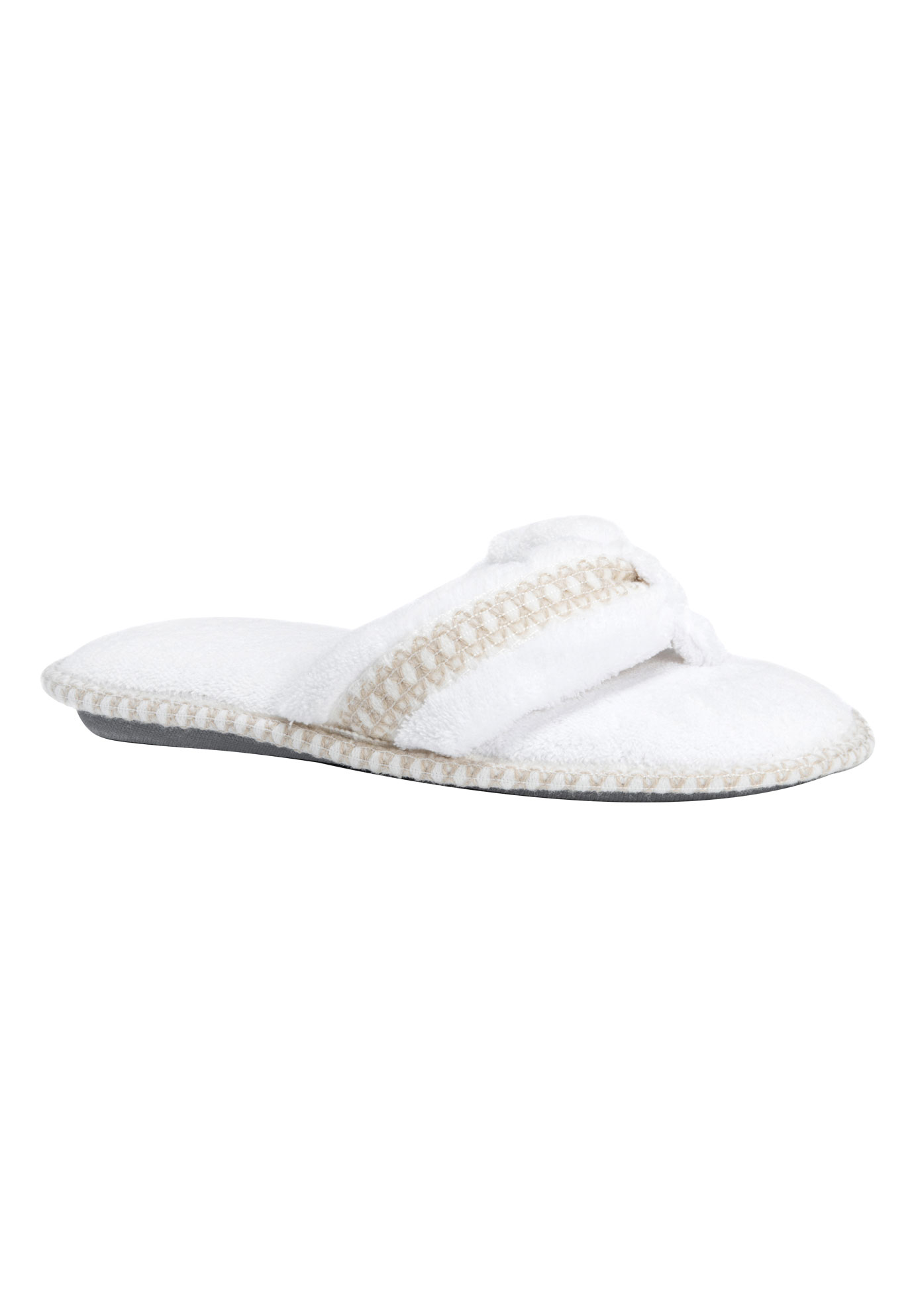 Darlene Thong Slippers by Muk Luks®, LILY WHITE, hi-res