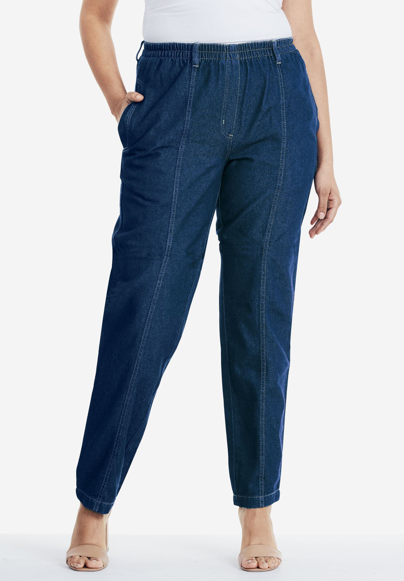 Kate Elastic Waist Jeans Plus Size Jeans Roaman S
