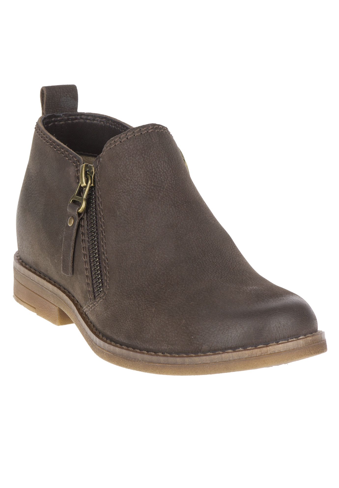 Mazin Cayto Bootie by Hush Puppies®, DARK BROWN NUBUCK, hi-res