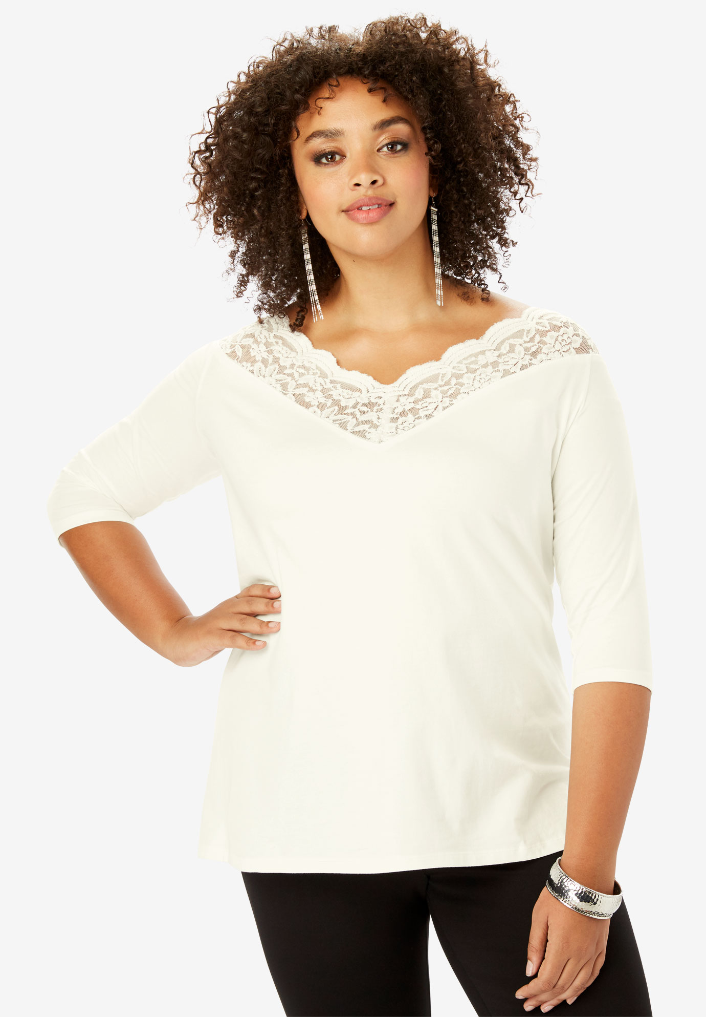 Scalloped Sweetheart Tee,