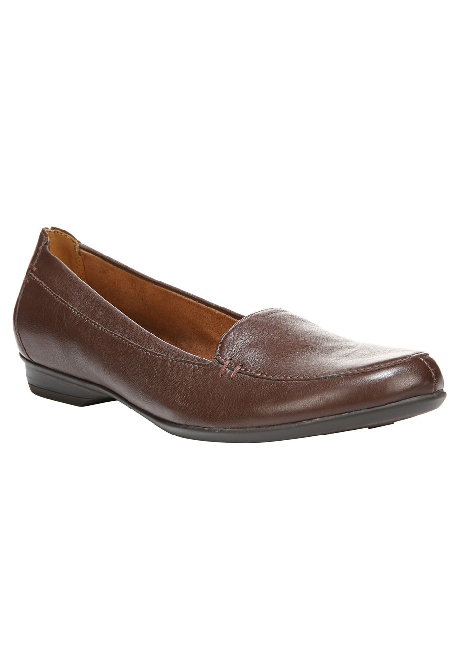 Saban Leather Slip-Ons by Naturalizer®, BRIDAL BROWN, hi-res