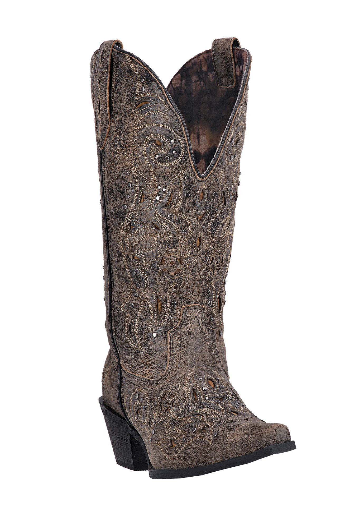 Vanessa Wide Calf Boots by Laredo, BLACK TAN, hi-res
