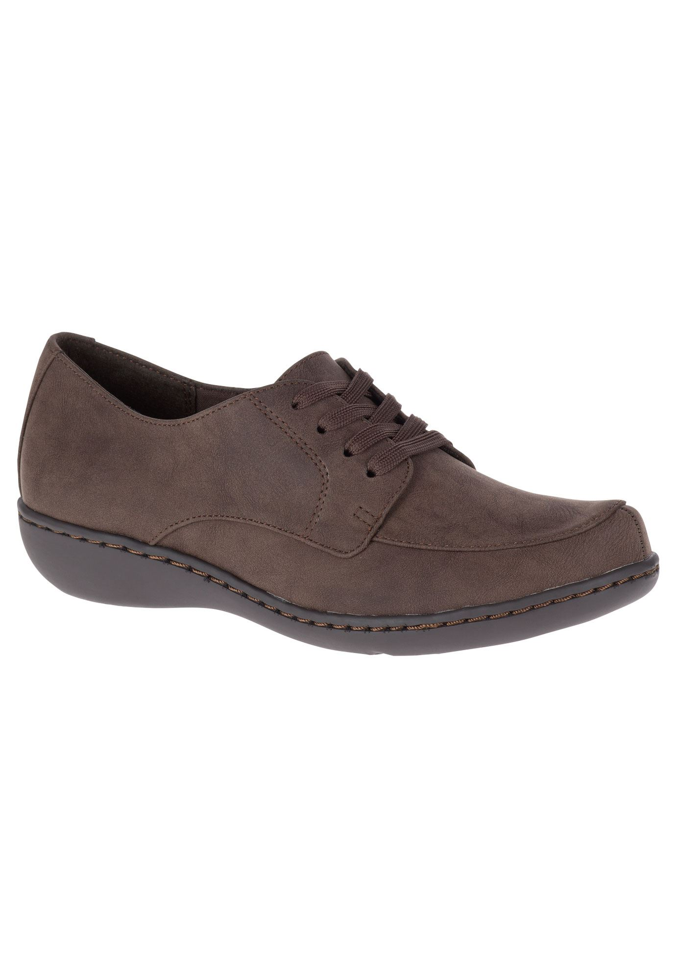 Jazlyn Oxfords by Soft Style, MID BROWN NUBUCK, hi-res