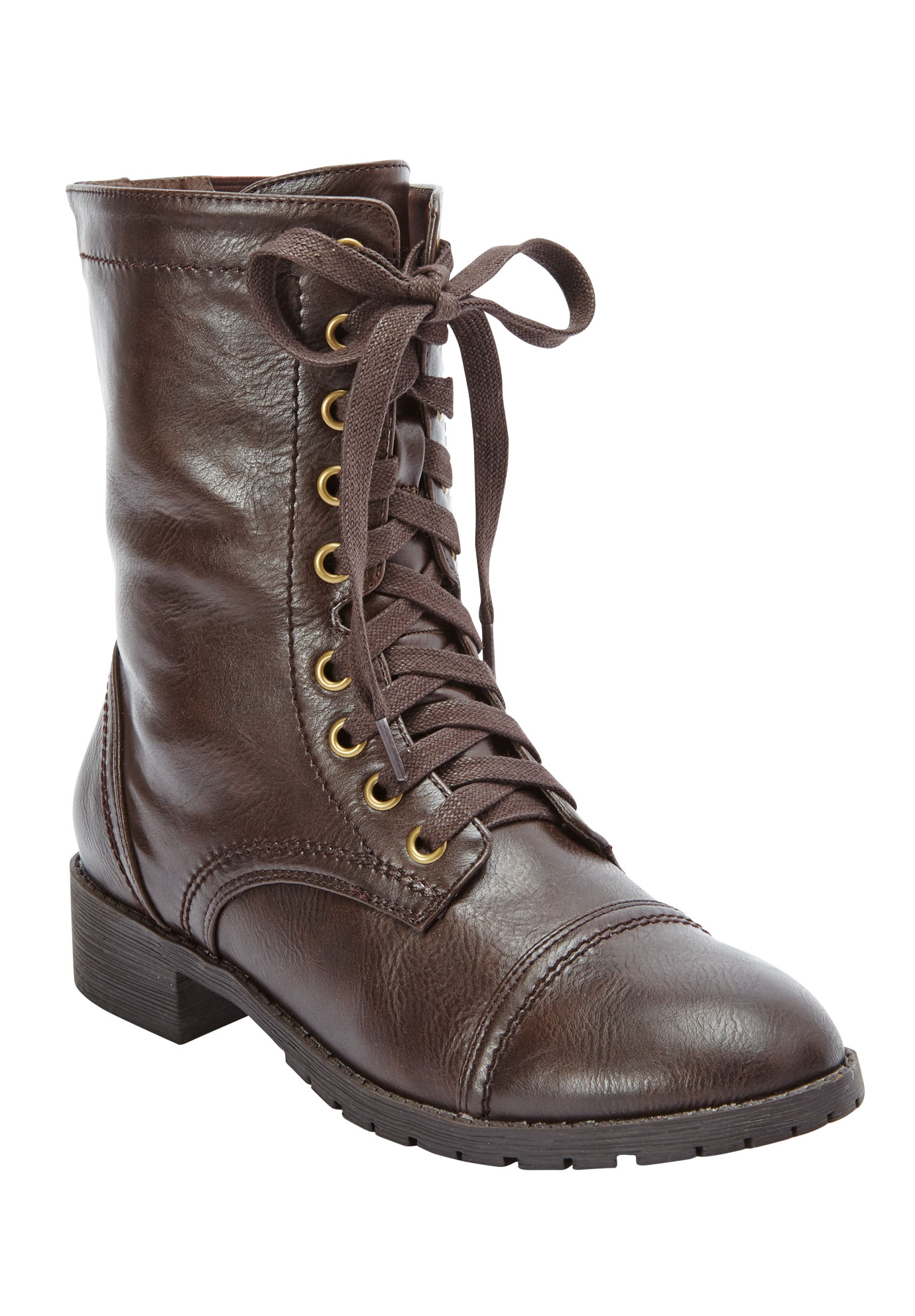 Britta Boots by Comfortview, DARK BROWN, hi-res