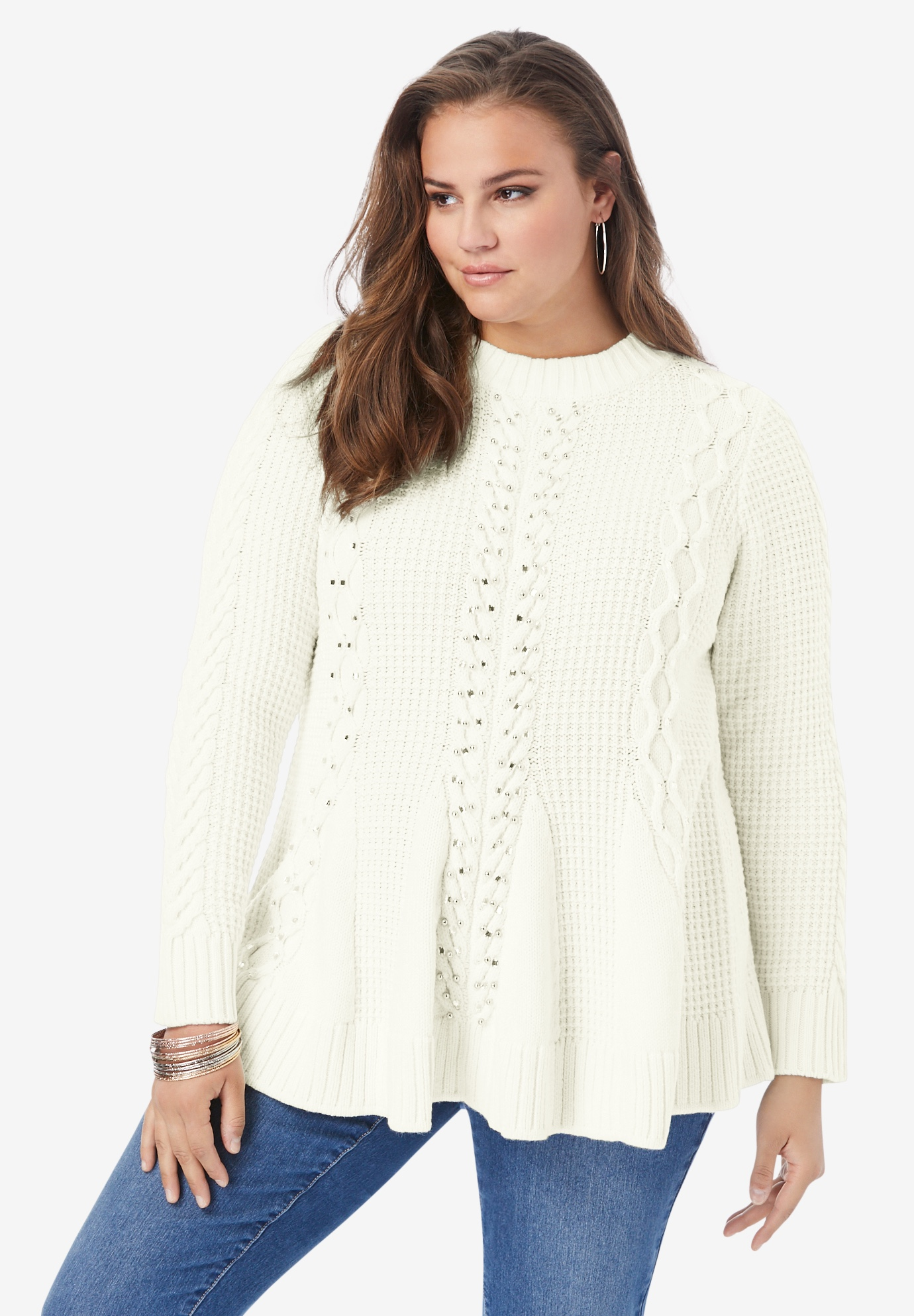 Fit-and-Flare Sweater,