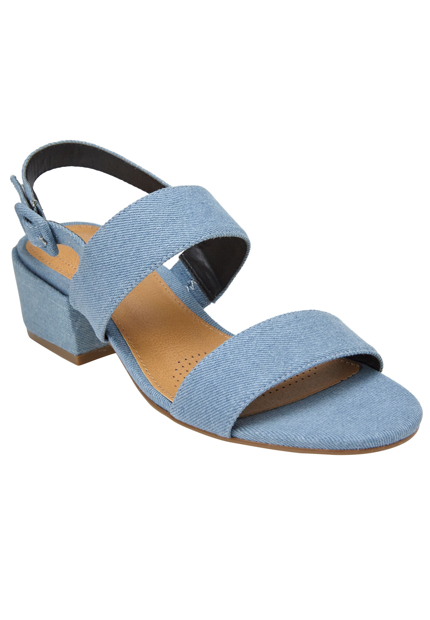 Etta Sandals by Comfortview®, LIGHT DENIM, hi-res