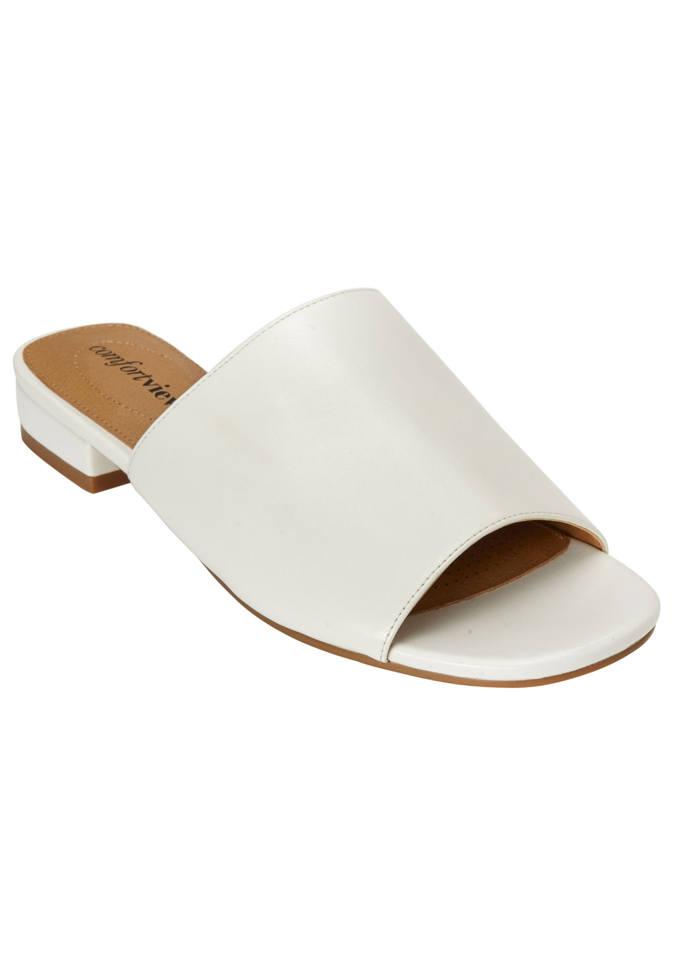 Sola Mules by Comfortview®, WHITE, hi-res