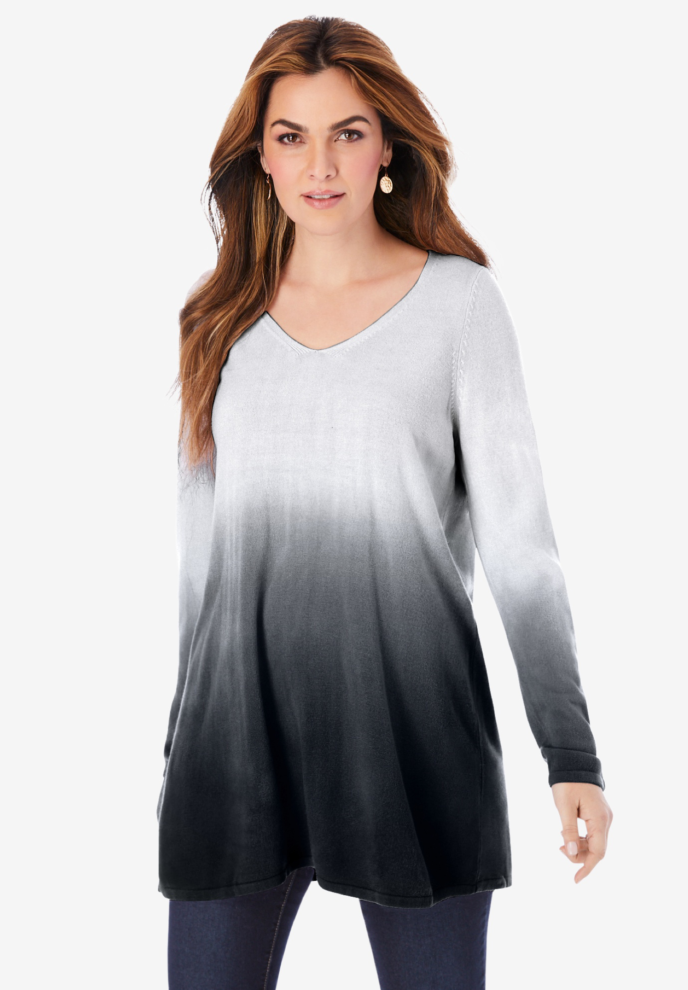 Fine Gauge Ombré Sweater,