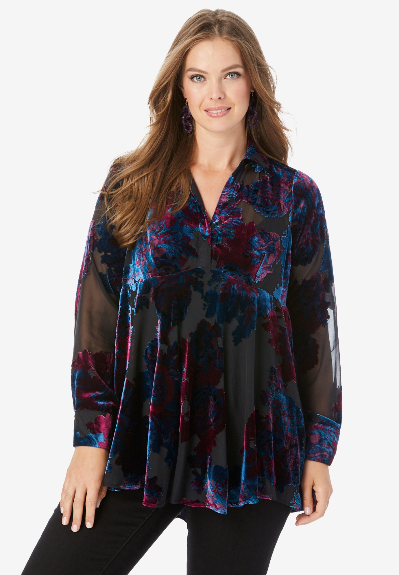 Burnout Fit-and-Flare Tunic,