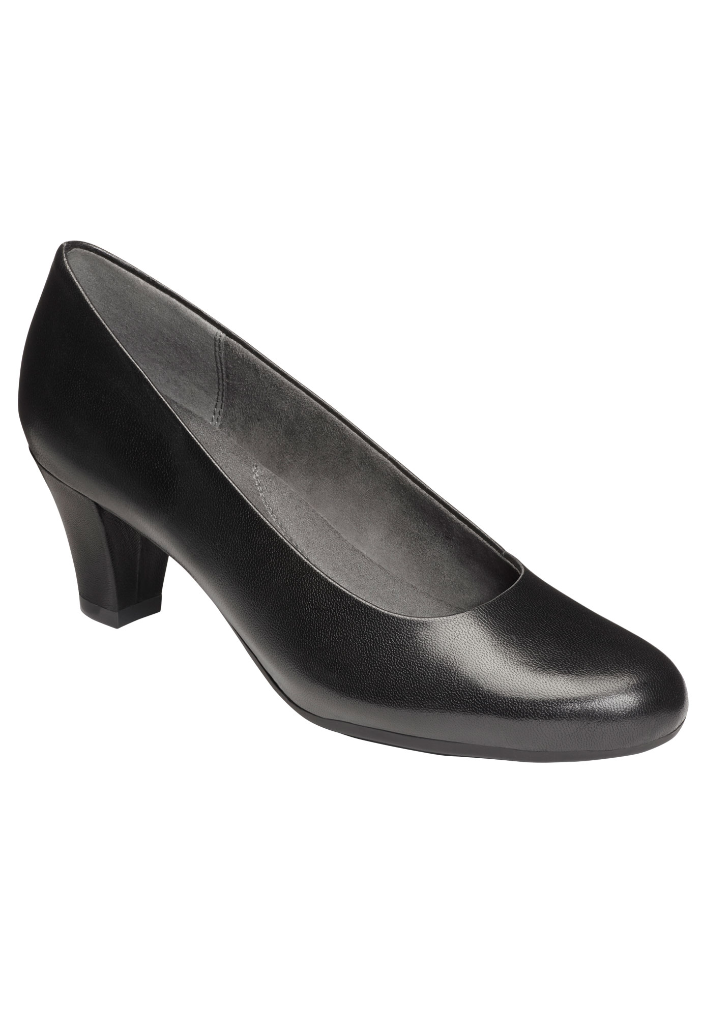 Shore Thing Pumps by Aerosoles®, BLACK LEATHER, hi-res