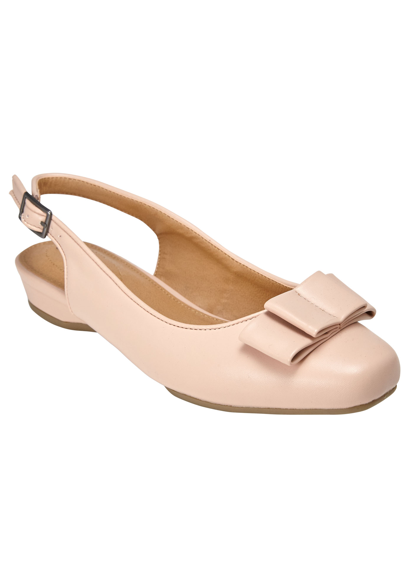 Nikki Slingback Flat by Comfortview, DUSTY PINK, hi-res
