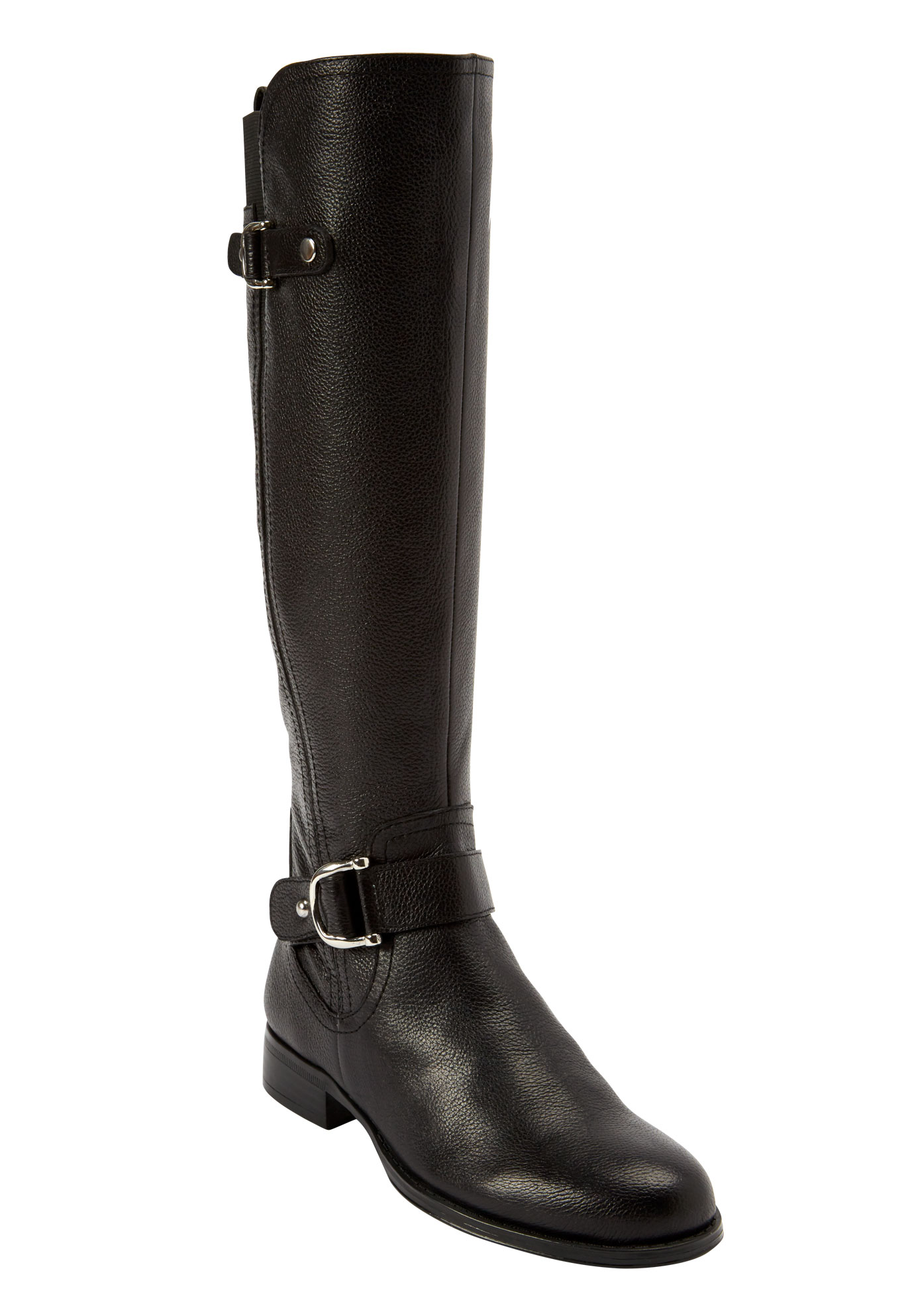 Jenelle Tall Calf Boot by Naturalizer®, BLACK, hi-res