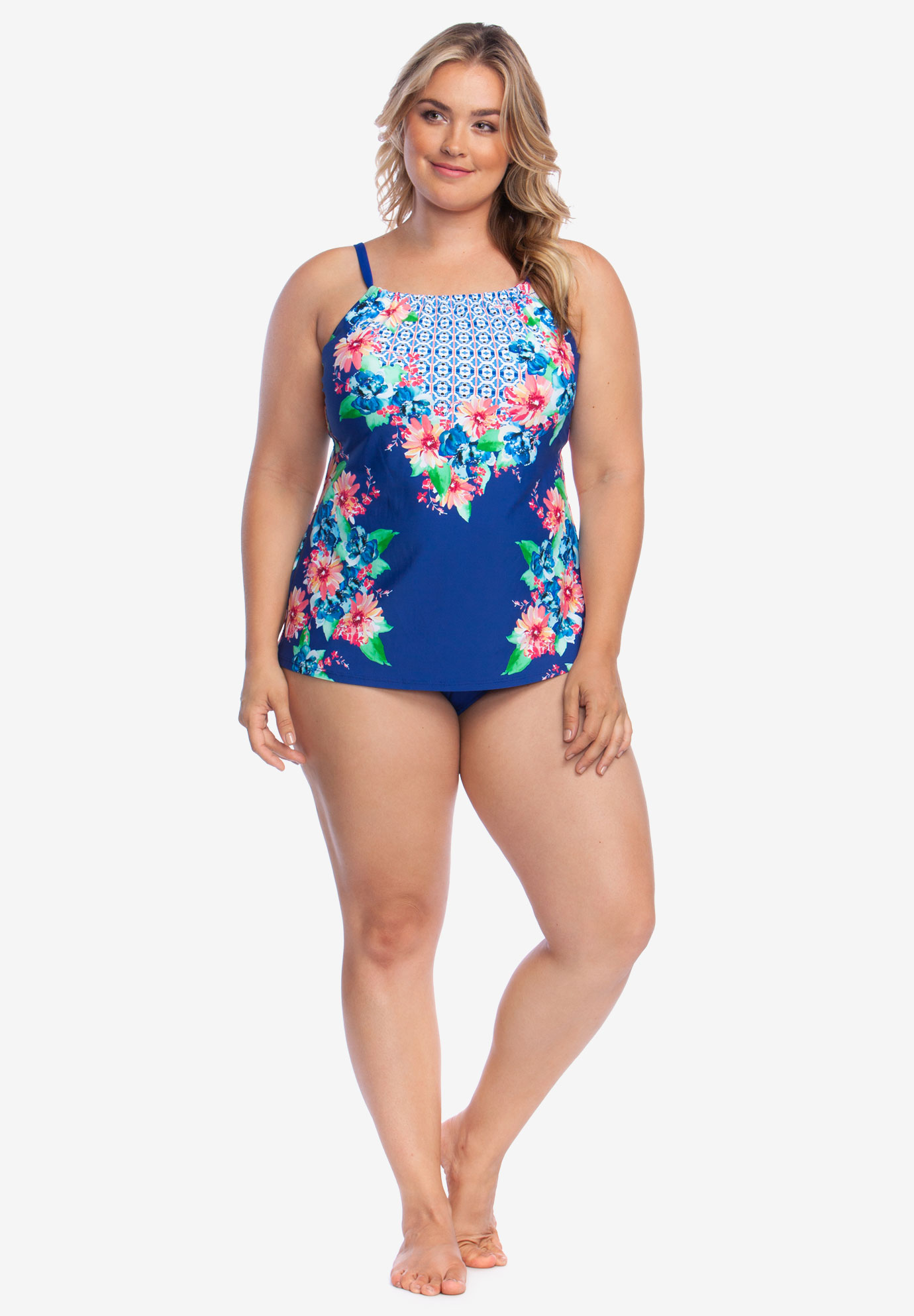 High-Neck Tankini Top by 24th & Ocean,