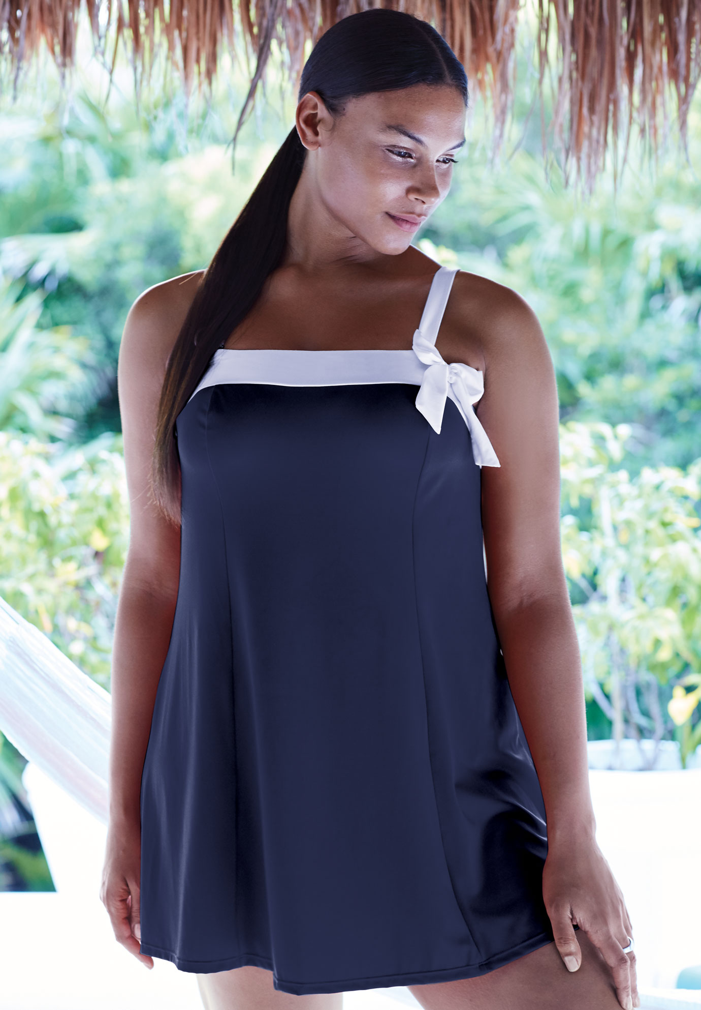 Side Bow Swimdress,
