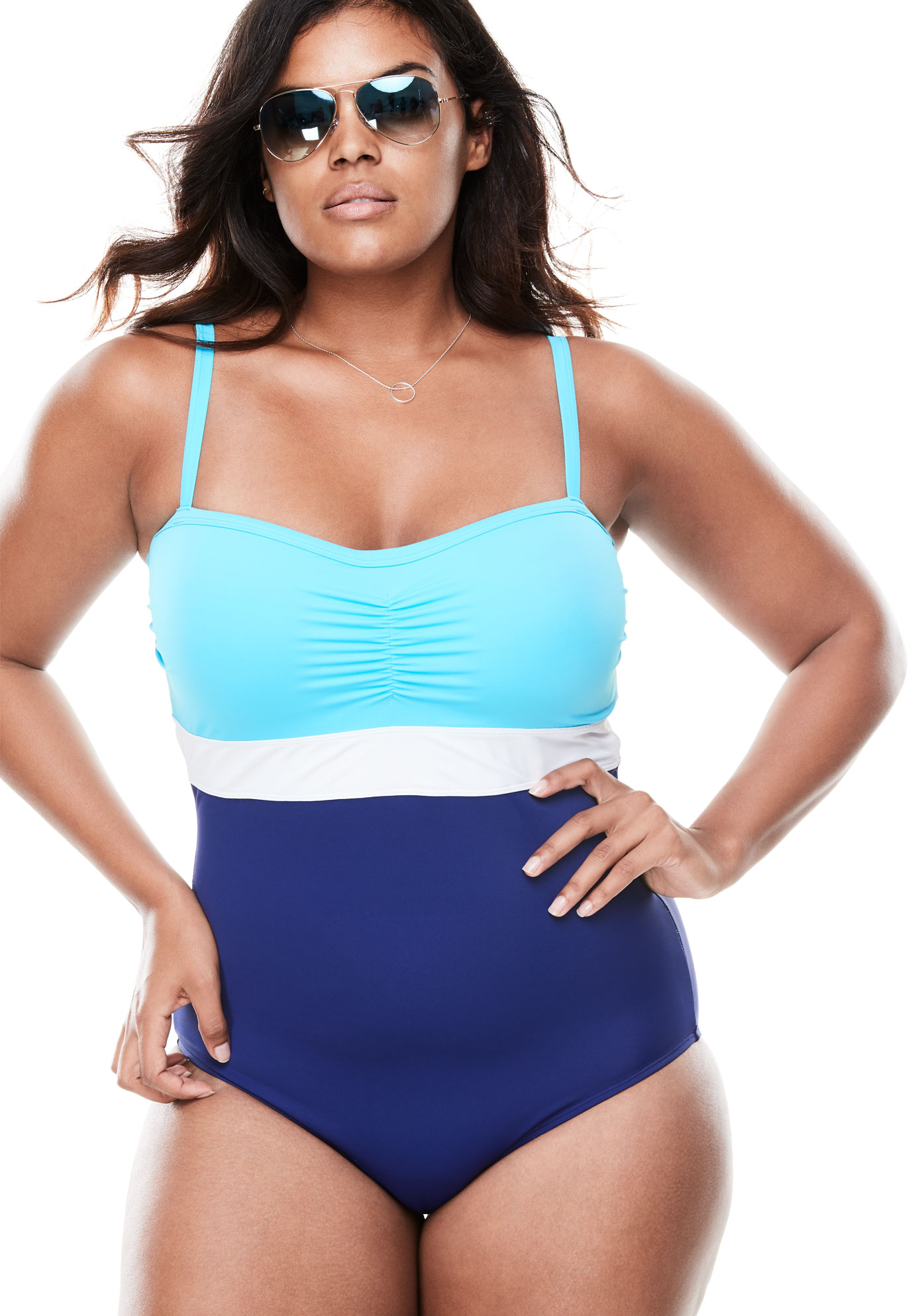 Colorblock One-Piece by Swimsuits For All,