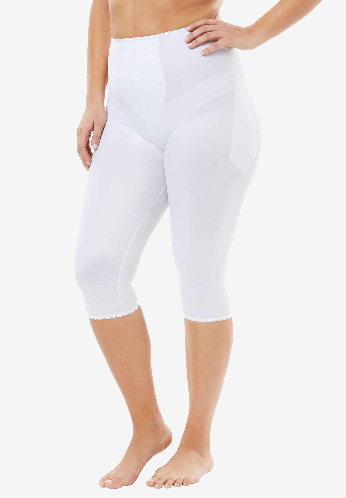 Light Shaping Pant Liner by Rago®, WHITE, hi-res