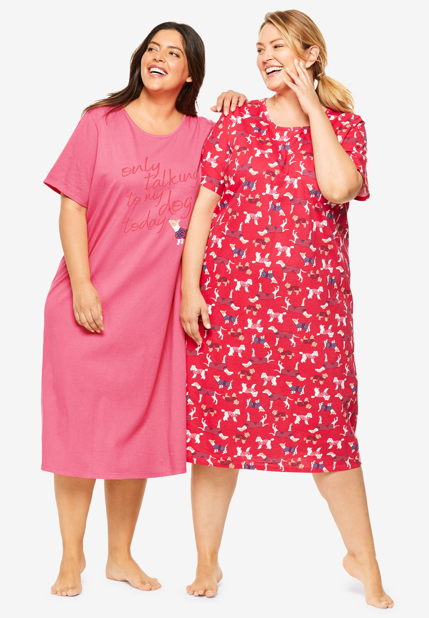 2-Pack Long Sleepshirts by Dreams & Co.®,
