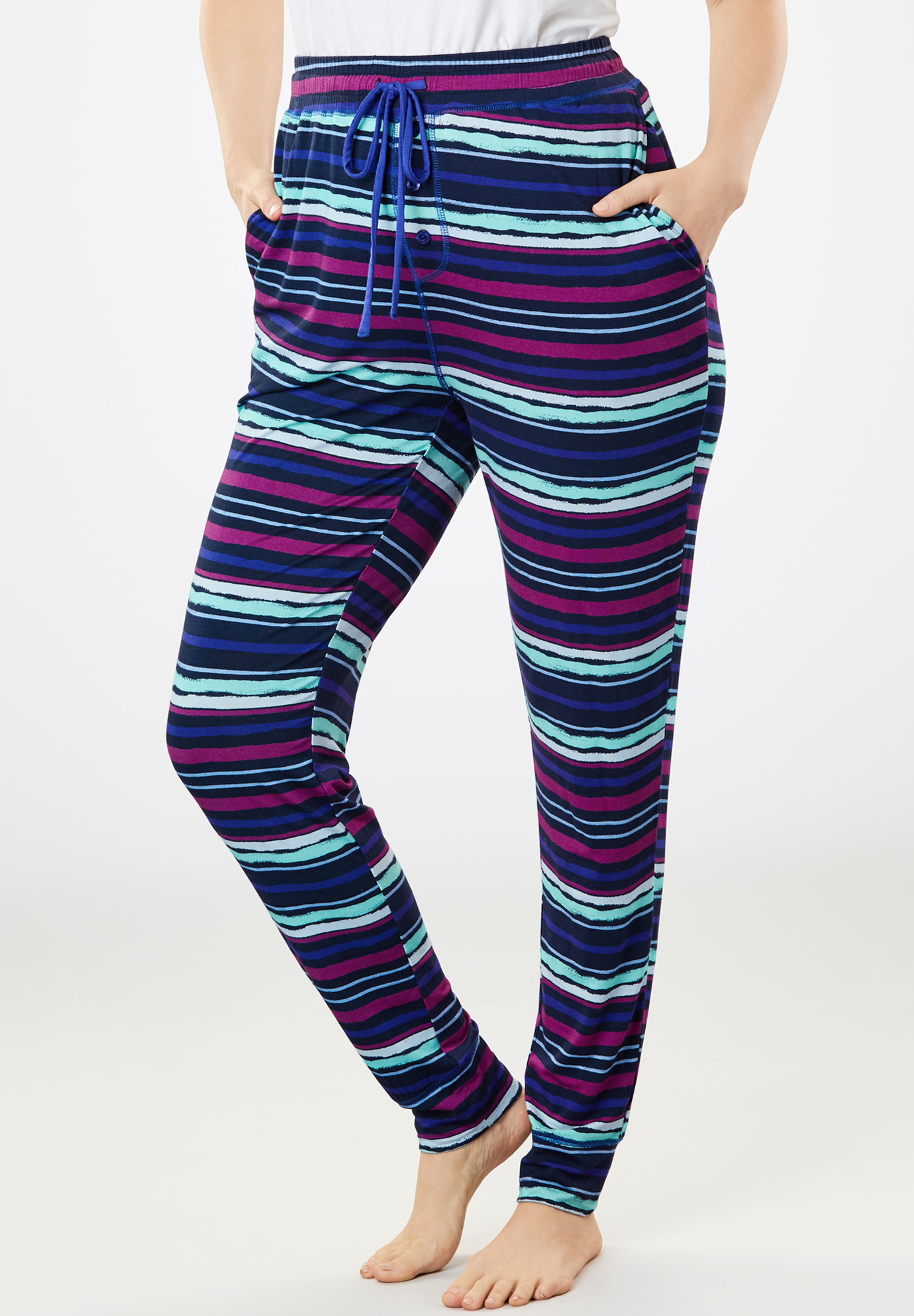 Relaxed Jogger, MULTI BLUE STRIPE, hi-res