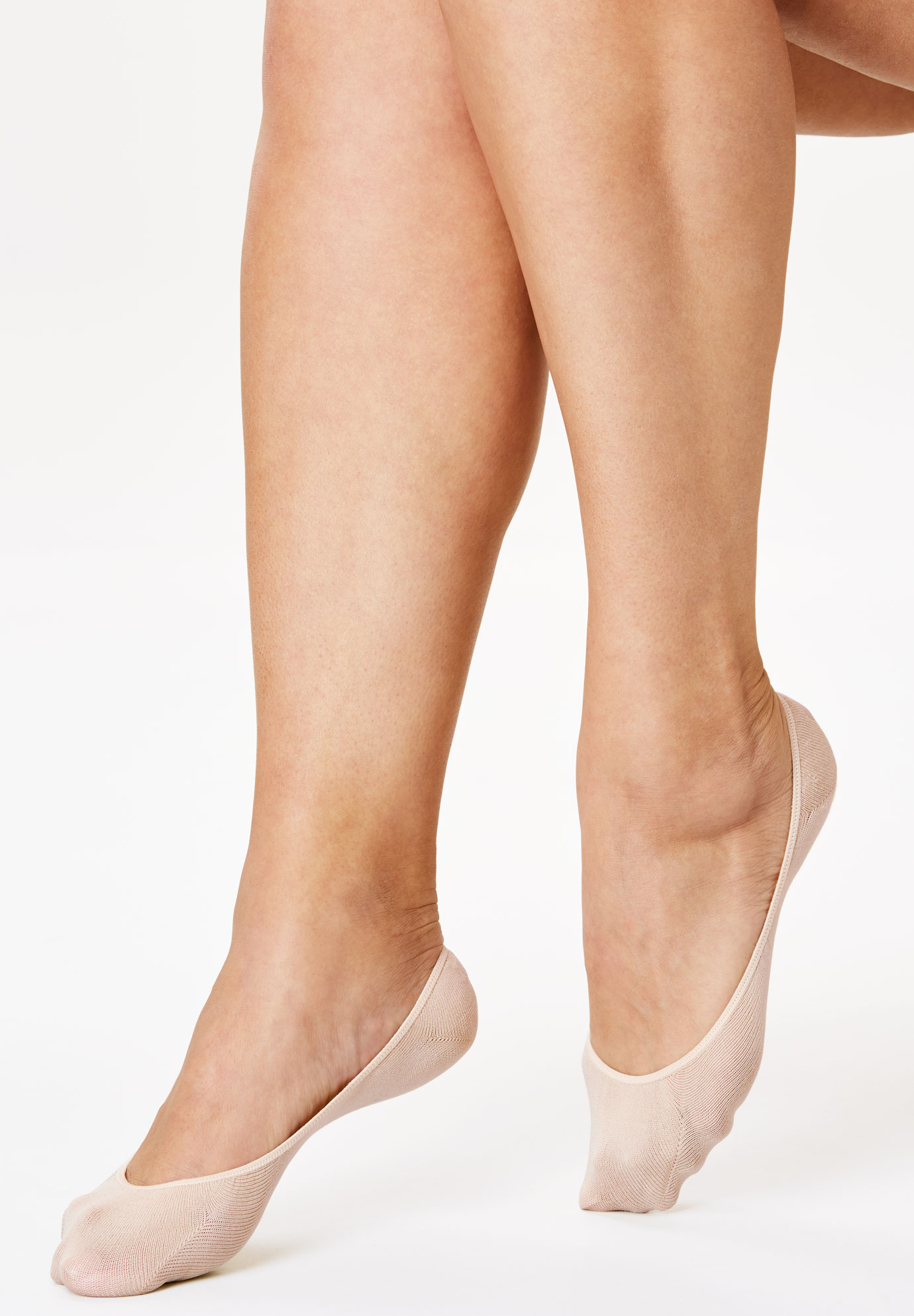 3-Pack No-Show Cotton Socks by Comfort Choice®, NUDE