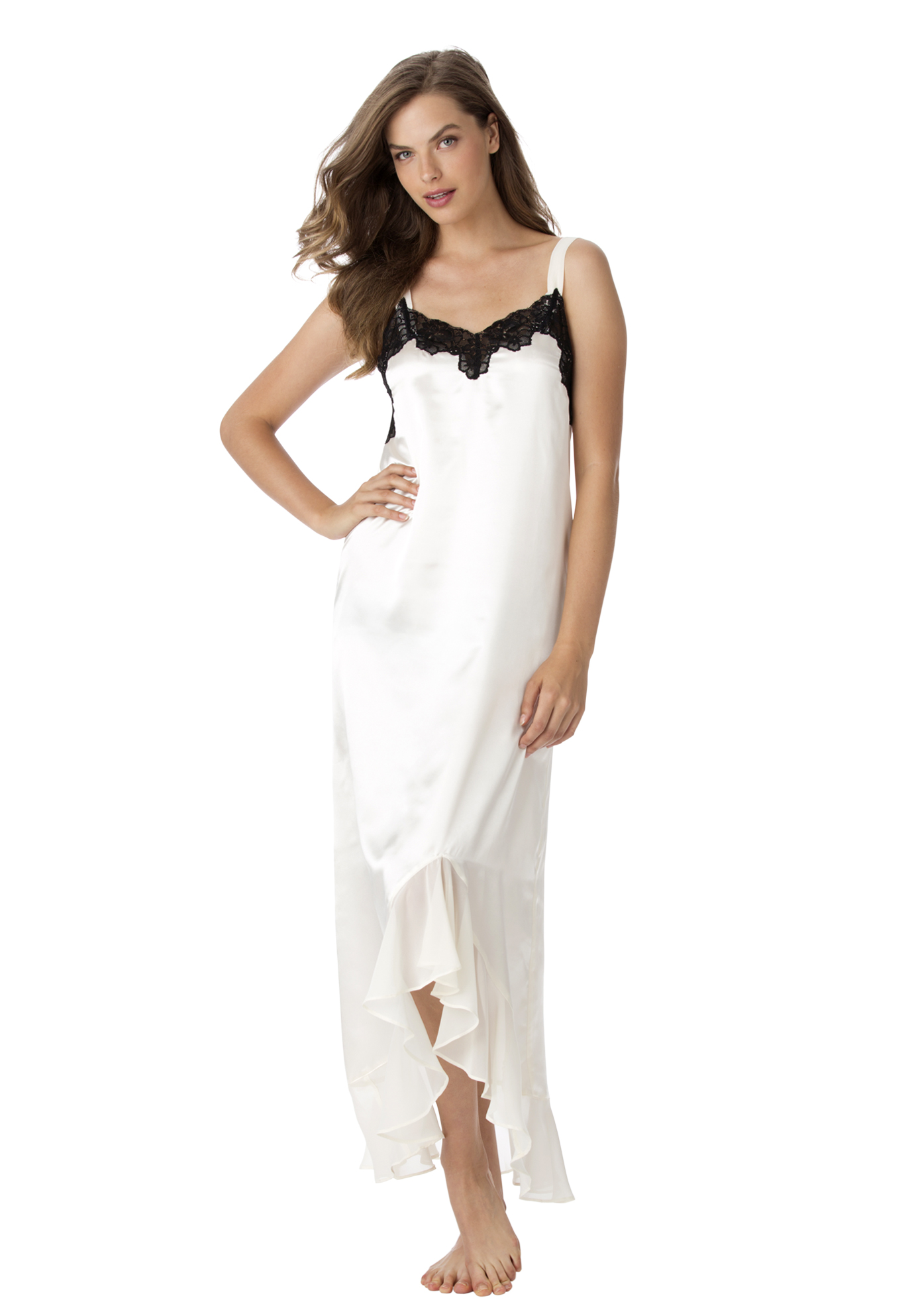 Lace Satin Gown by Amoureuse®. | Plus Size Clearance Sleepwear ...