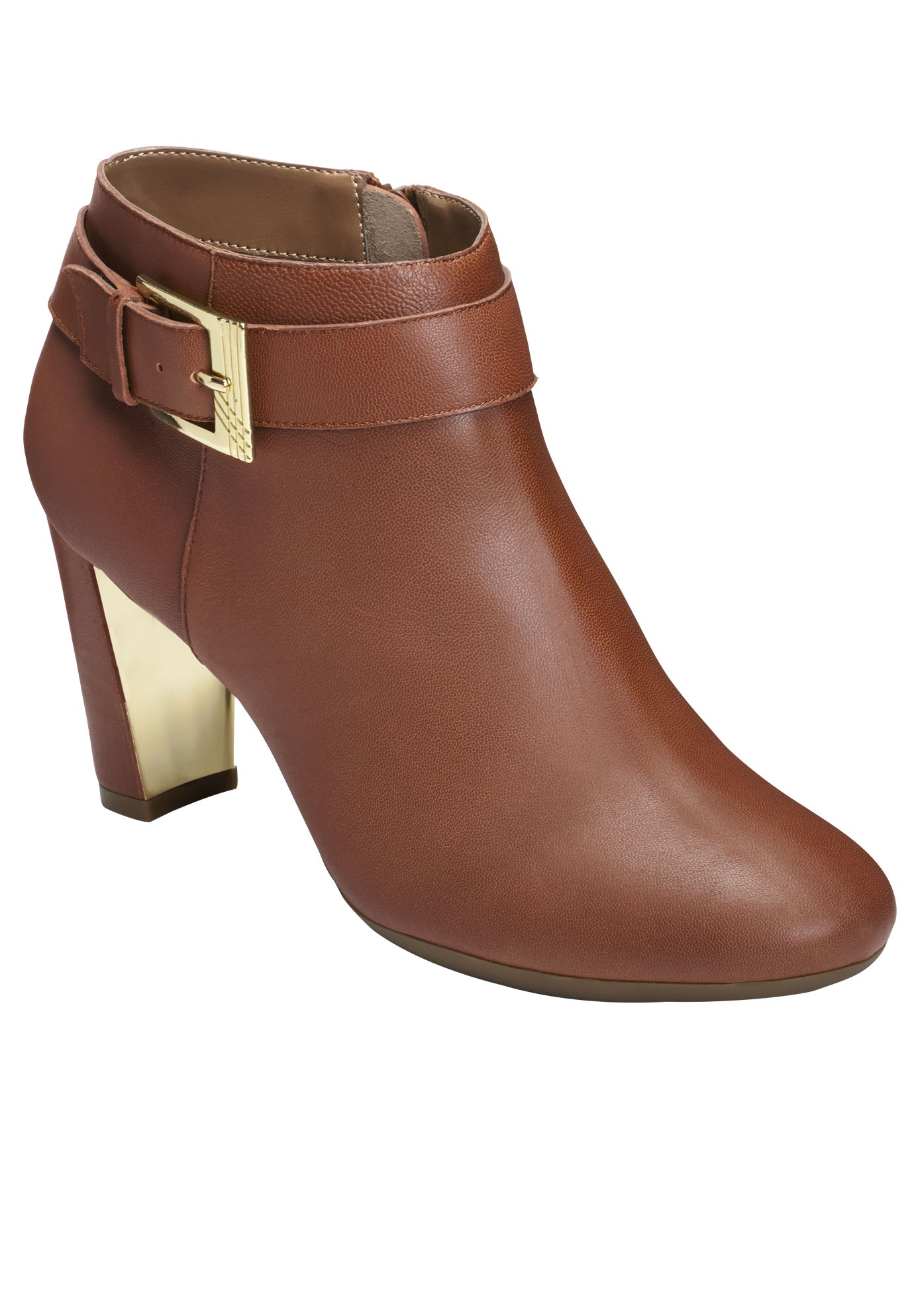 Third Ave Booties by Aerosoles®, DARK TAN LEATHER, hi-res