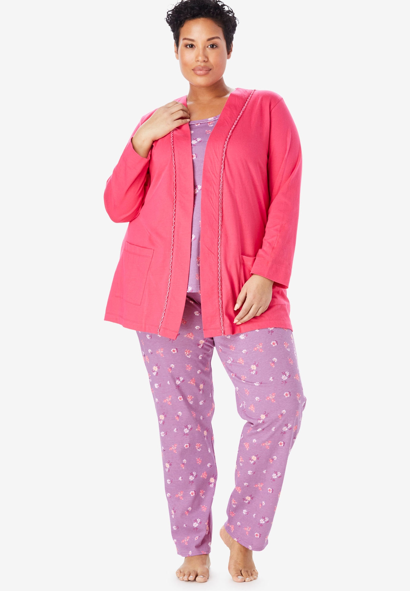 3-Piece Cotton Pajama Set by Only Necessities®,