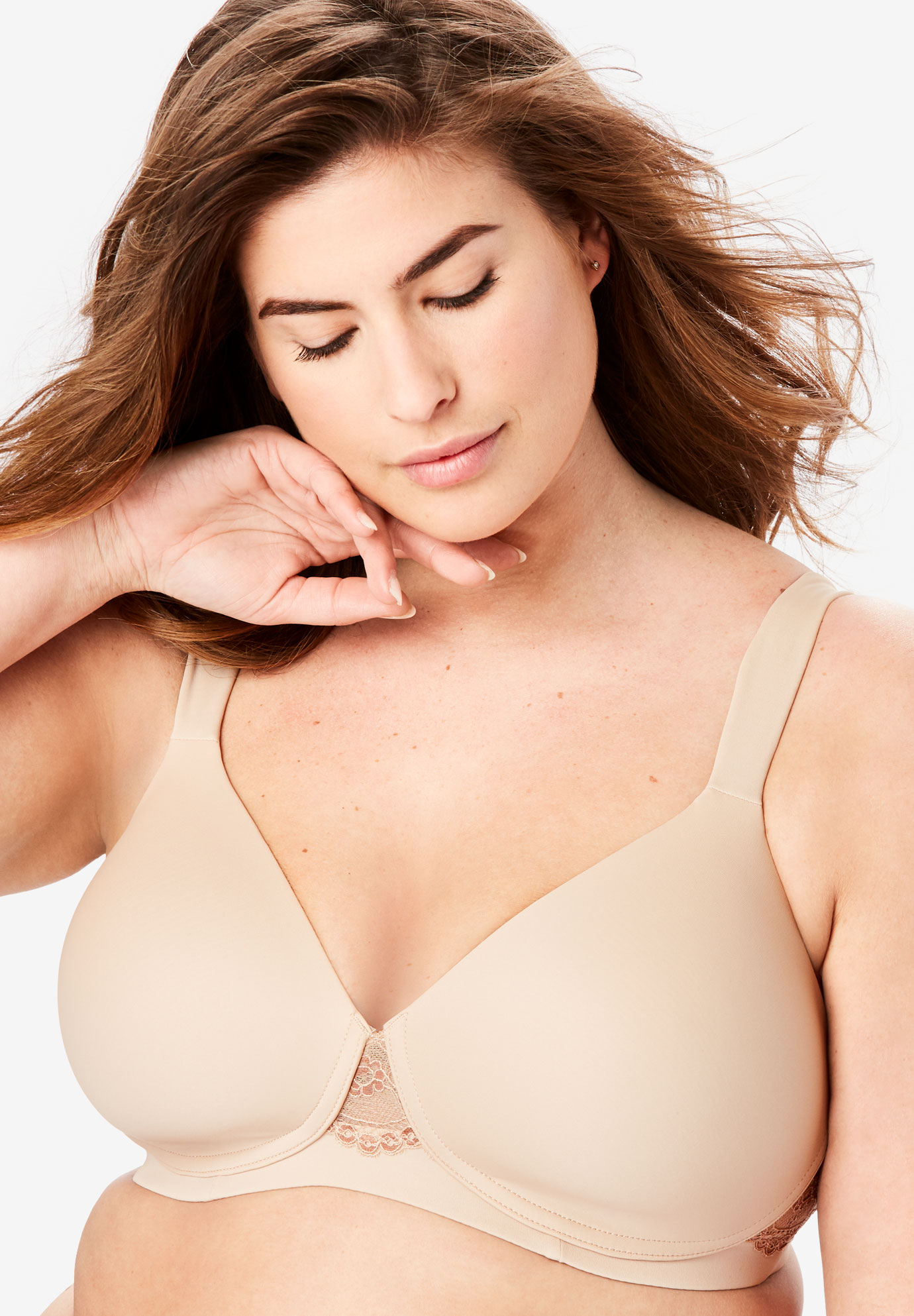 Padded Lace Balconette Bra By Leading Lady®, WARM TAUPE, hi-res