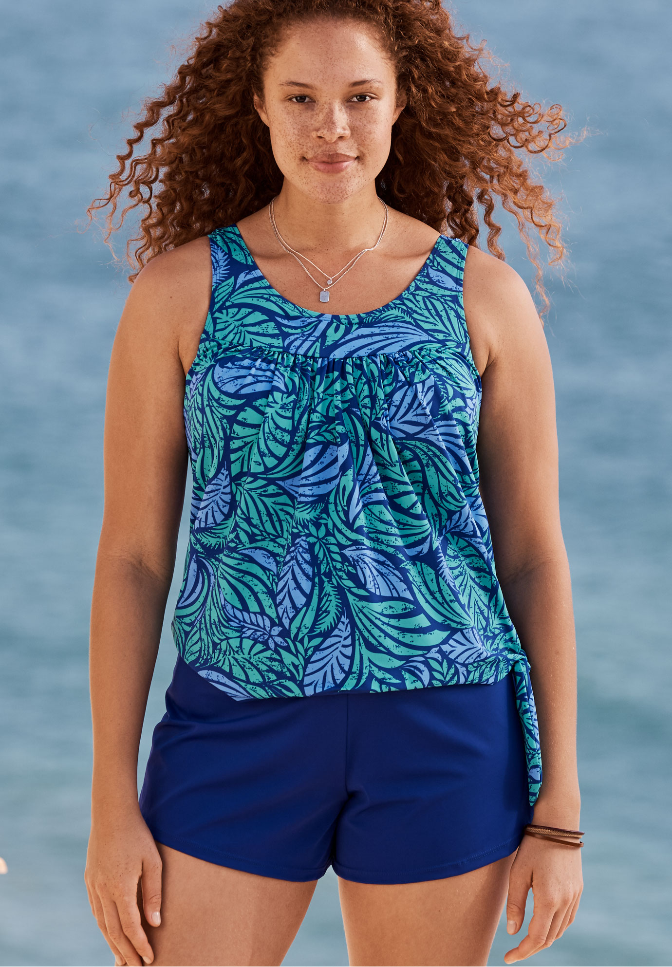 2-Piece Blouson Swim Set ,