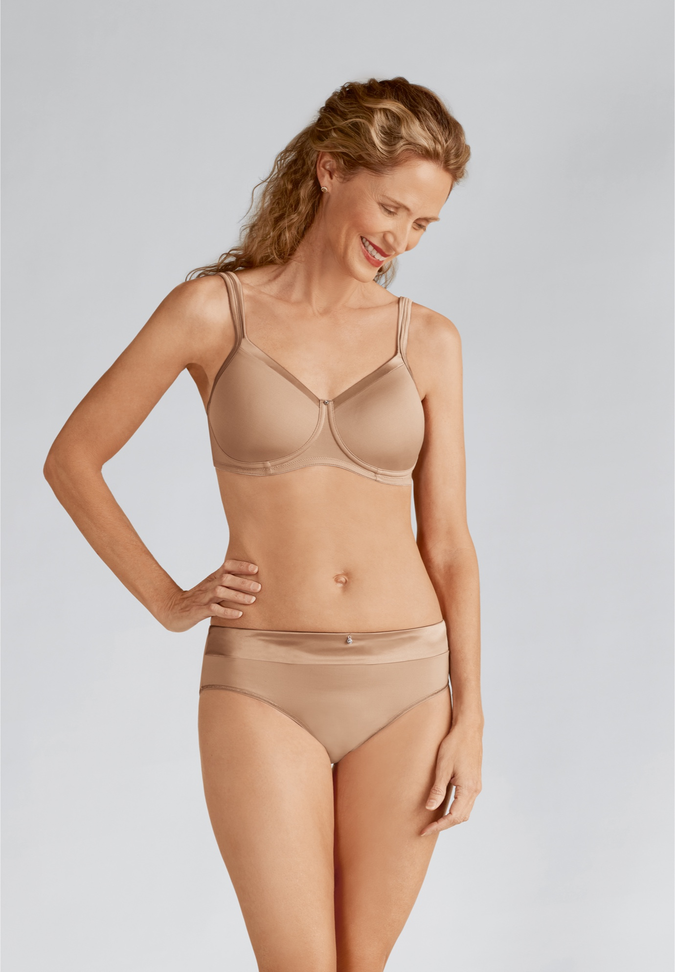 Lara Satin Padded Wire Free Bra 44212 ,