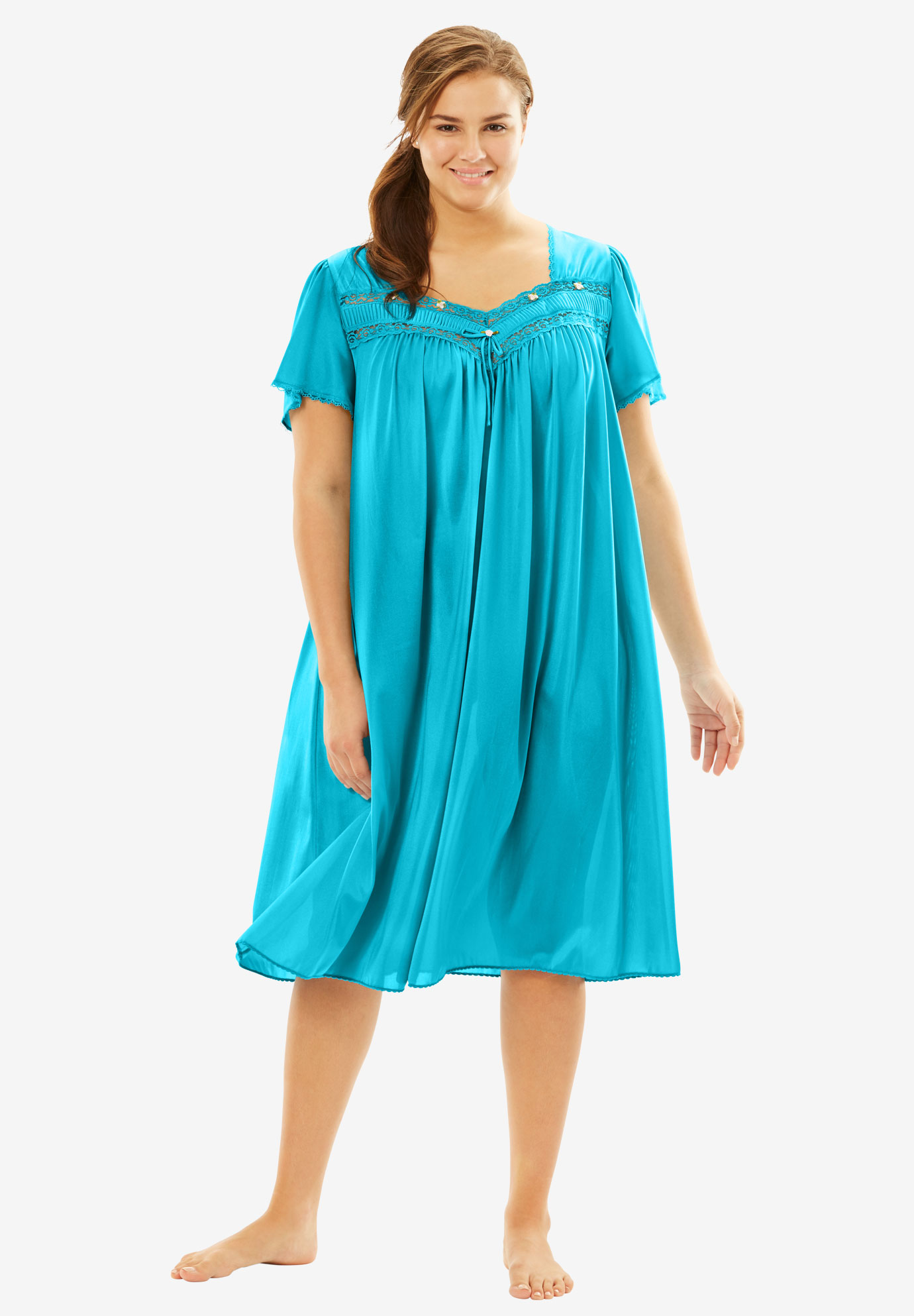 Full-Sweep Nightgown by Only Necessities®, PRETTY TURQUOISE, hi-res