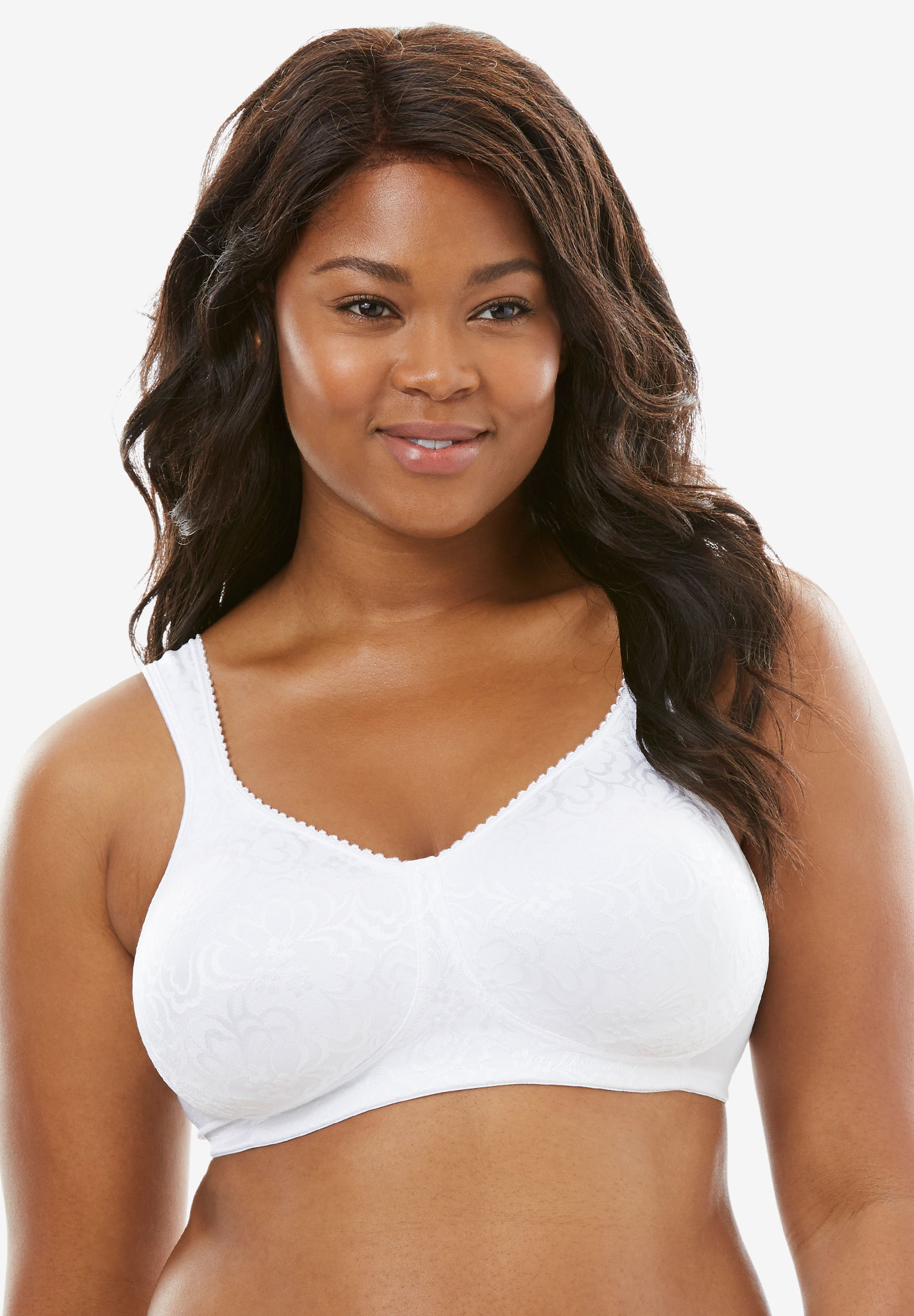 18 Hour Ultimate Lift Wireless Bra by Playtex®, WHITE, hi-res
