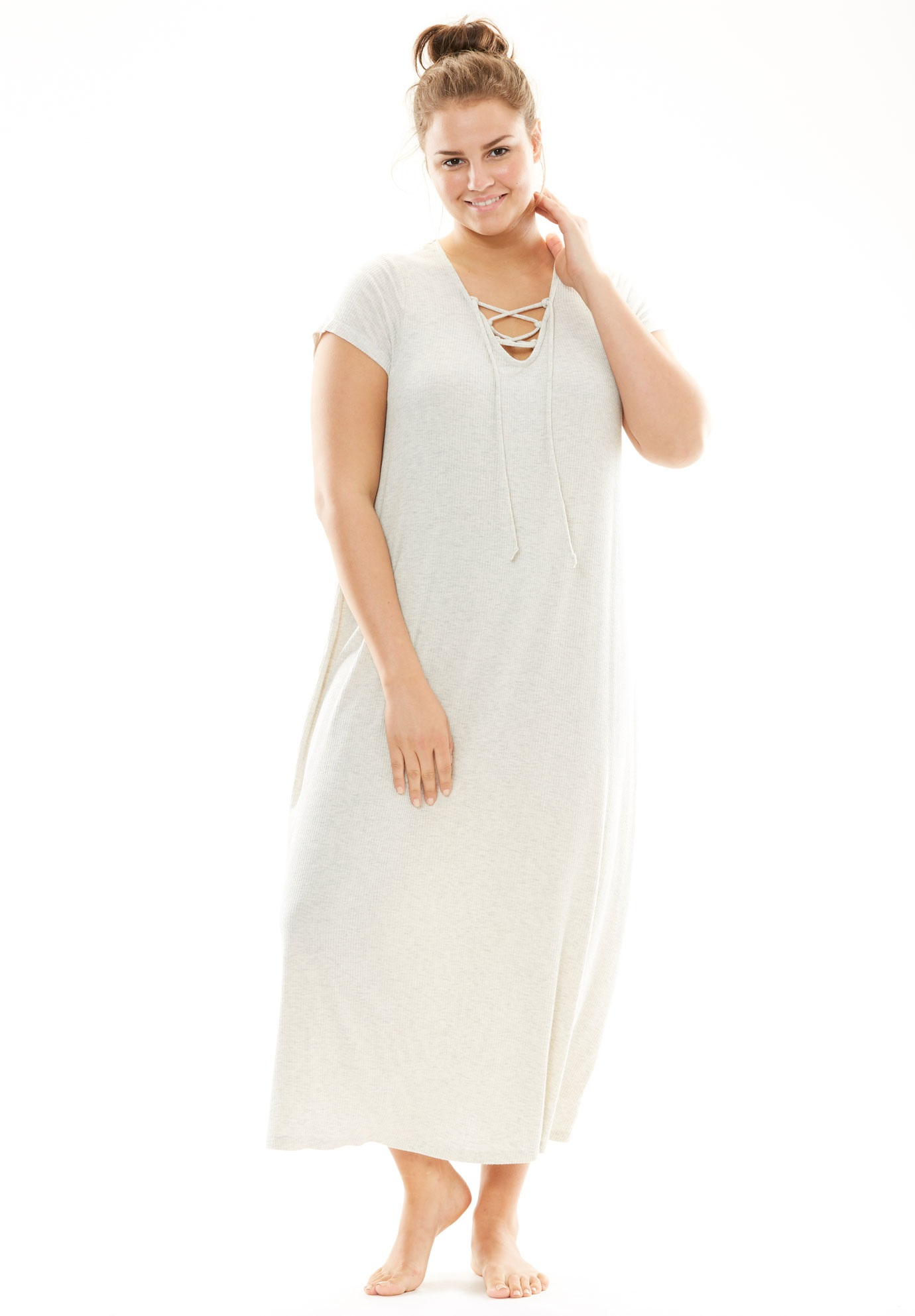Lace Sleep Gown | Plus Size Nightgowns | Roaman\'s