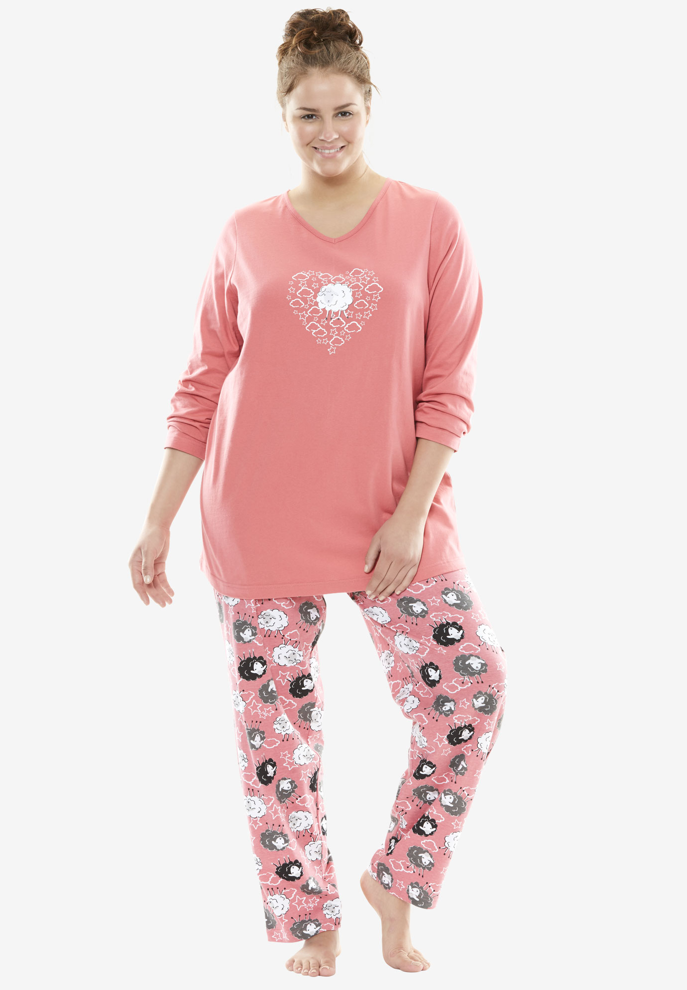 Novelty PJ Set by Dreams & Co., BEGONIA SHEEP, hi-res
