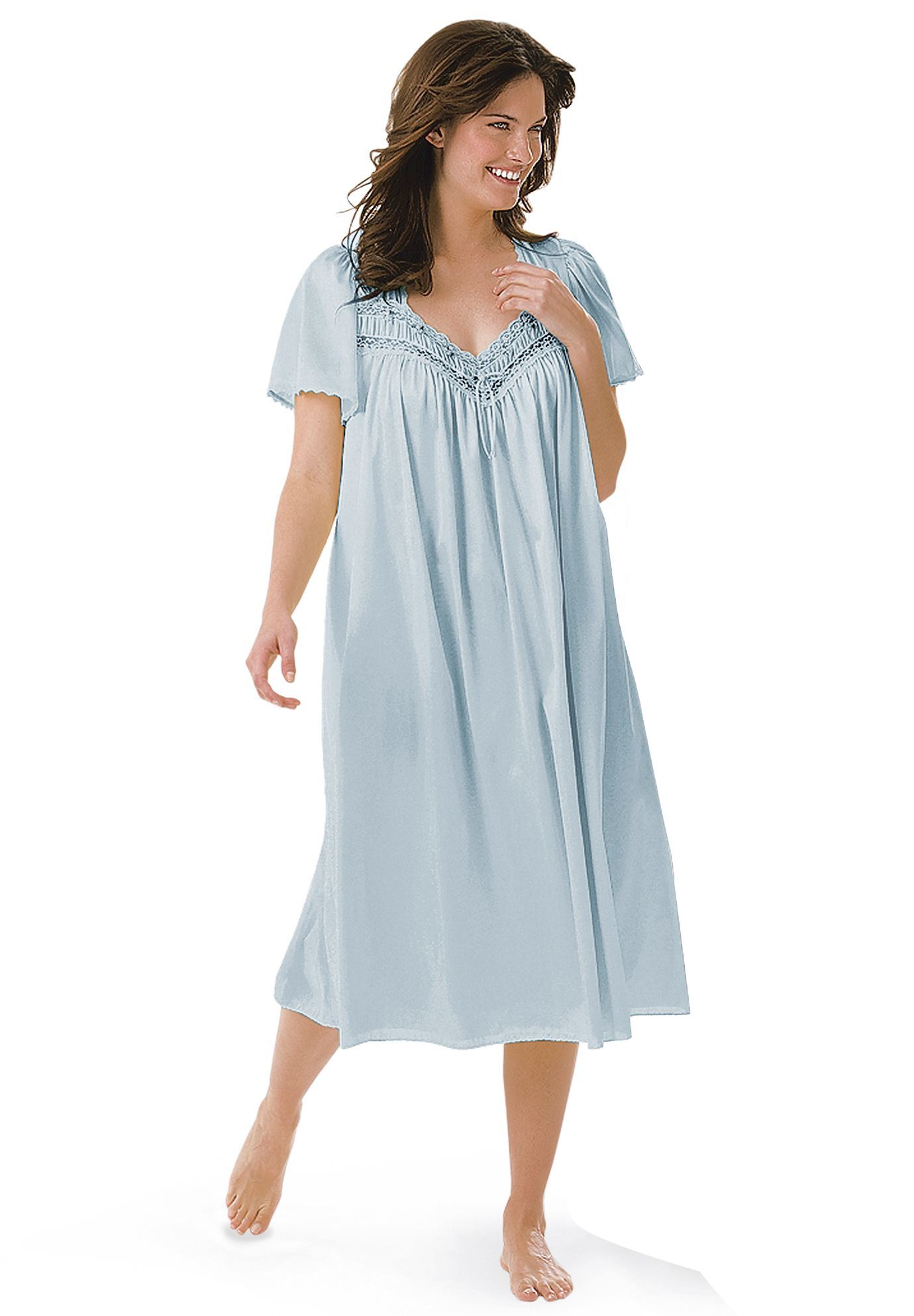 Full-Sweep Nightgown by Only Necessities®   Plus Size Clearance ...